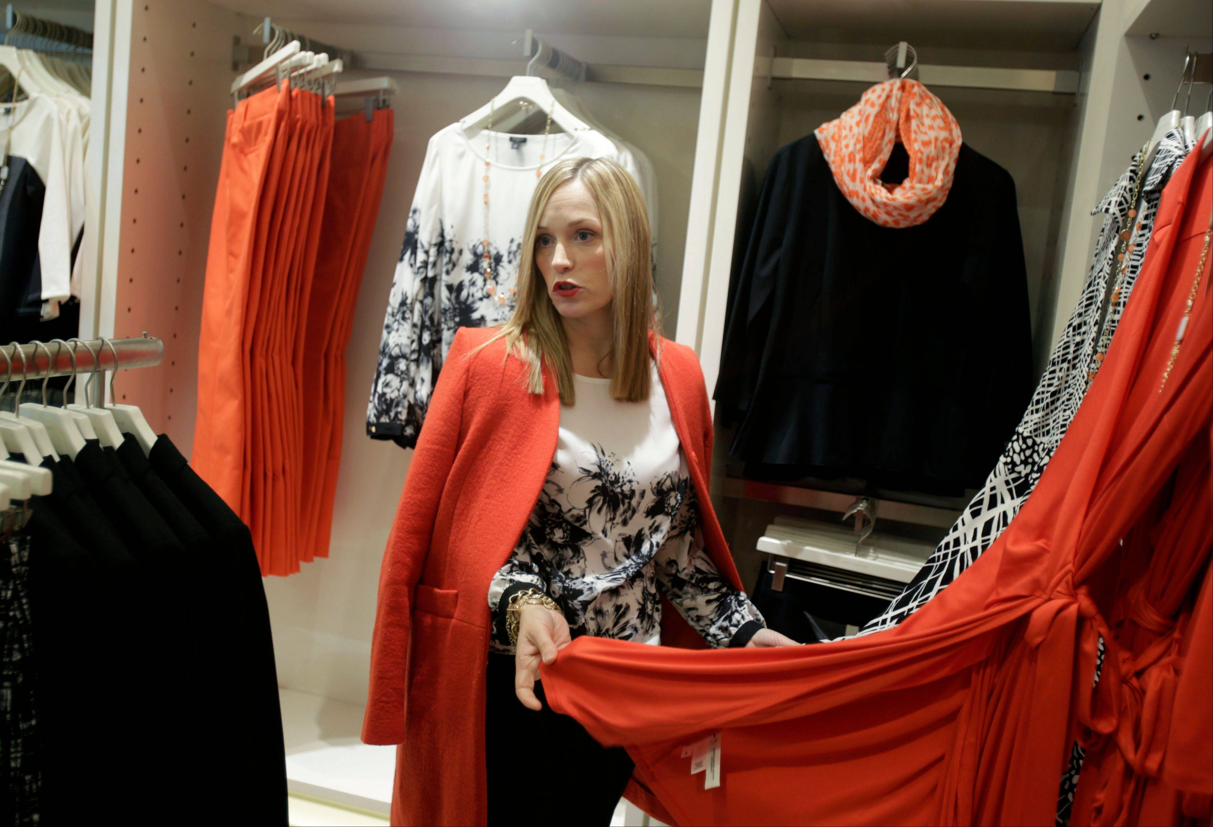 Lisa Axelson, creative director for Ann Taylor, discusses fashion at Ann Taylor's renovated location in The Westchester shopping mall in White Plains, N.Y. She pointed out the styles that she believes are the cornerstone of a woman's wardrobe in 2013.