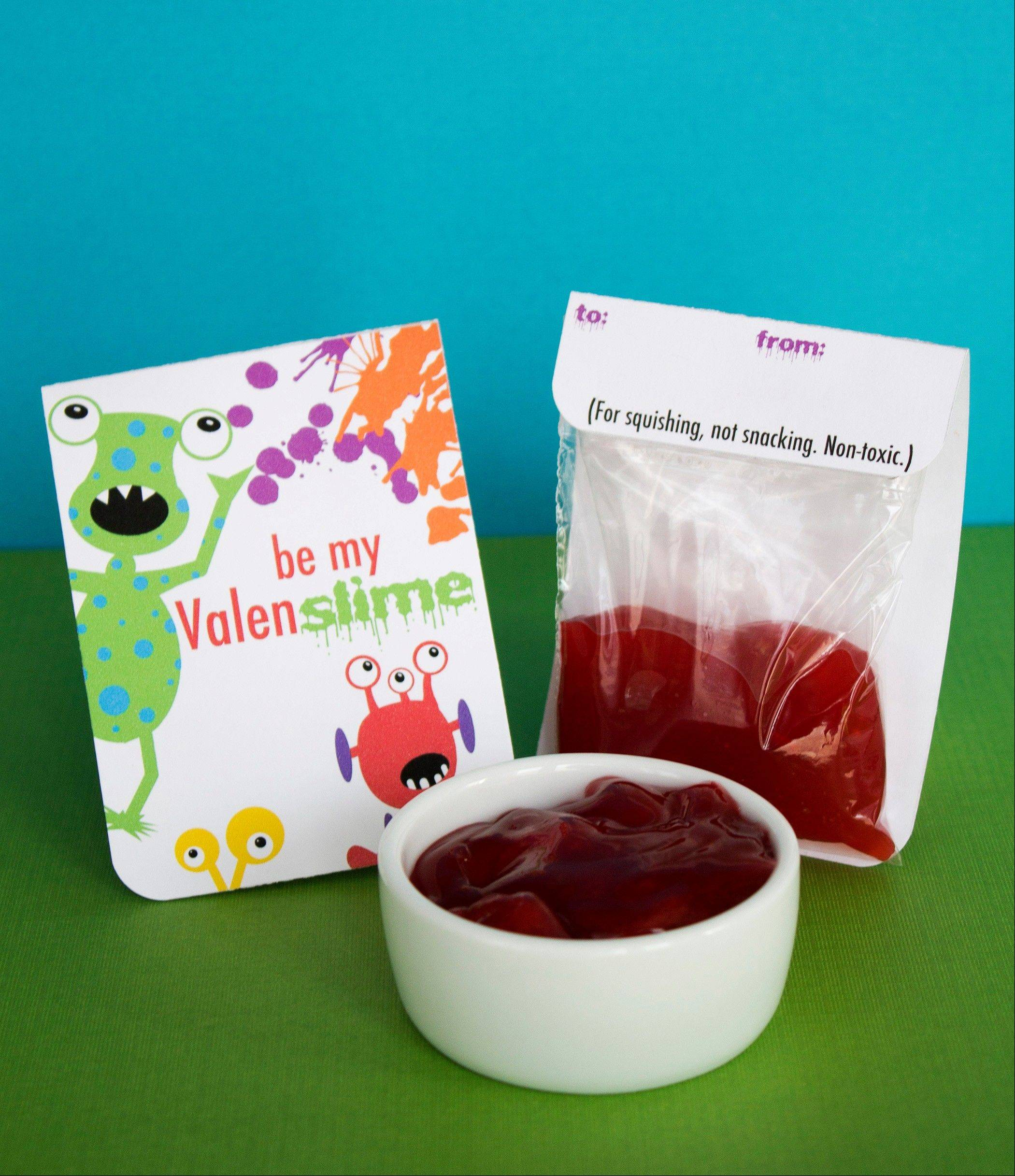 Boys who find hearts and flowers icky will be happy to give their friends this fun alternative to cards and candy.