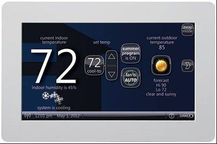 New thermostats can be programmed remotely using mobile phones or tablets.