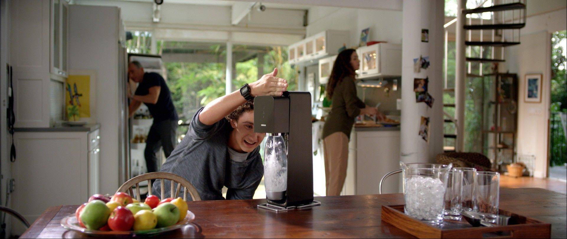 A provided by SodaStream shows the company's Super Bowl advertisement.