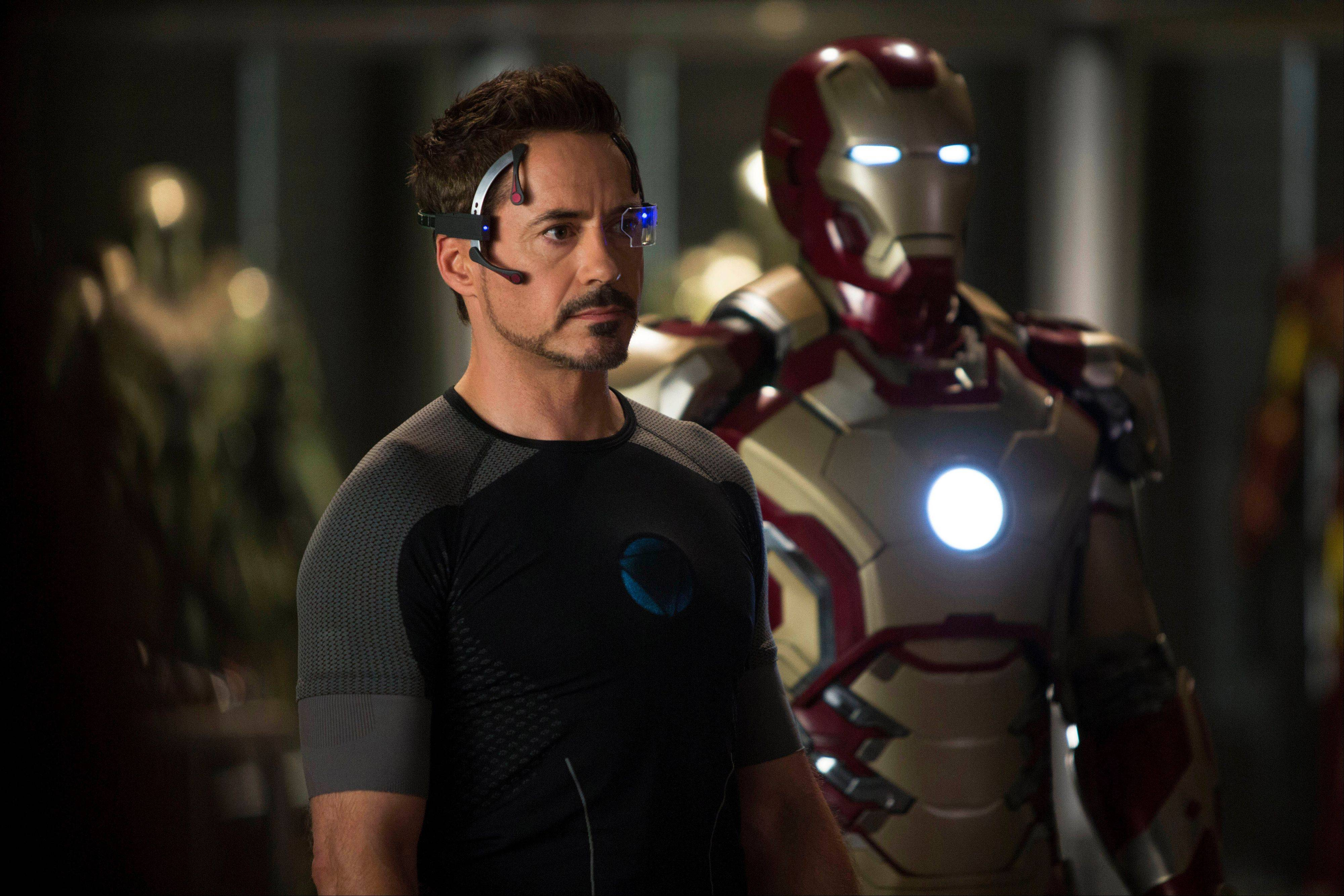 """Iron Man 3"" was one of several upcoming films to receive spotlight treatment with an ad that aired during Super Bowl XLVII."