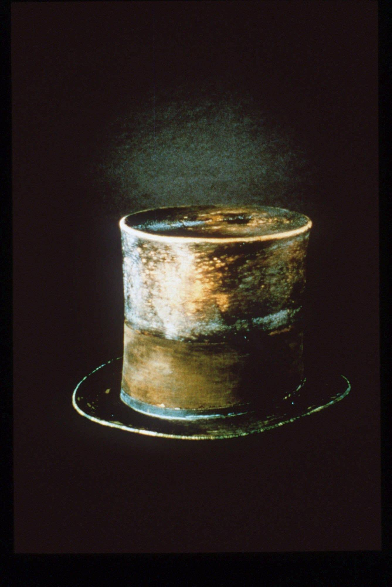 "The top hat President Abraham Lincoln wore the night he was assassinated is on display at the Smithsonian's National Museum of American History in the ""Changing America: The Emancipation Proclamation, 1863 and the March on Washington, 1963"" exhibit."