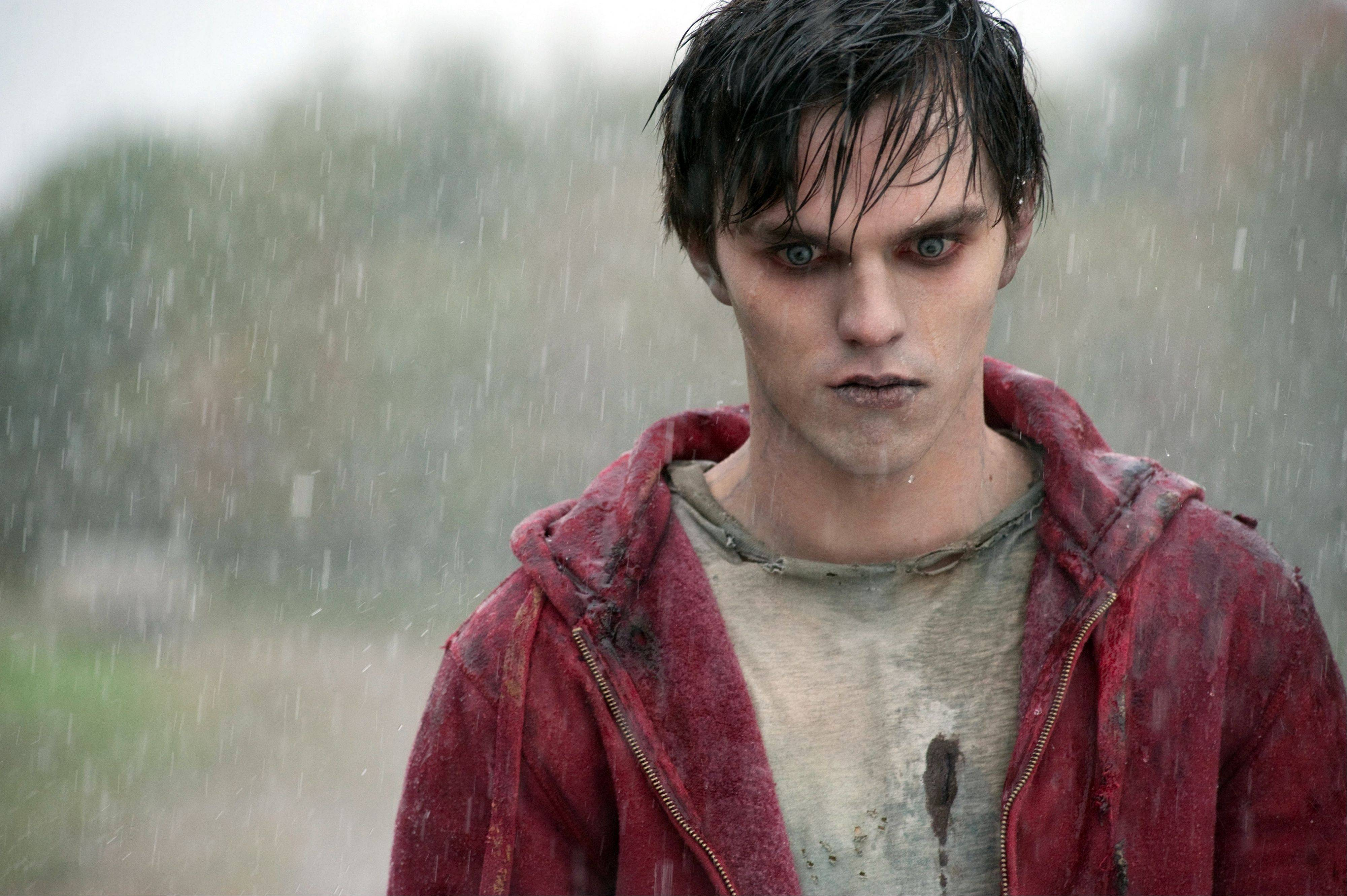 "Nicholas Hoult plays a zombie whose love for a human redeems him in ""Warm Bodies."""