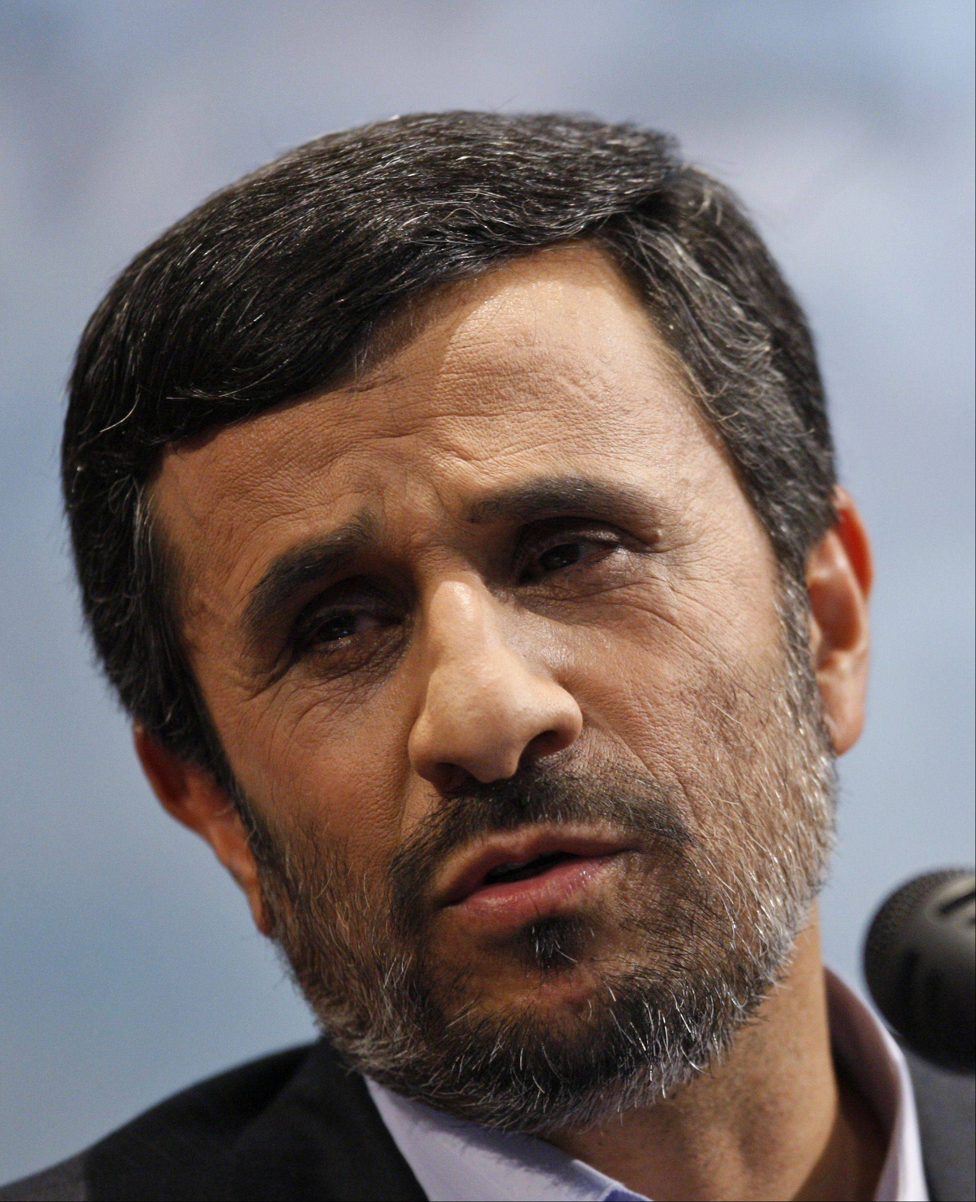 President Mahmoud Ahmadinejad said Monday that he's ready to take the risk of being the first Iranian astronaut sent into space as part of Iran's goal of a manned space flight.
