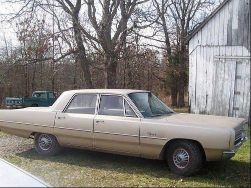 This was the condition of the 1967 Plymouth Fury before Hahn restored it.