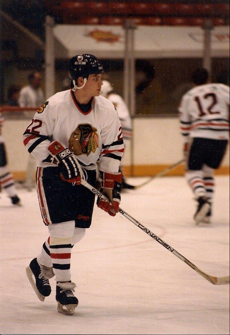 Mike Rucinski's professional hockey career included a stint with the International Hockey League's Saginaw Blackhawks.