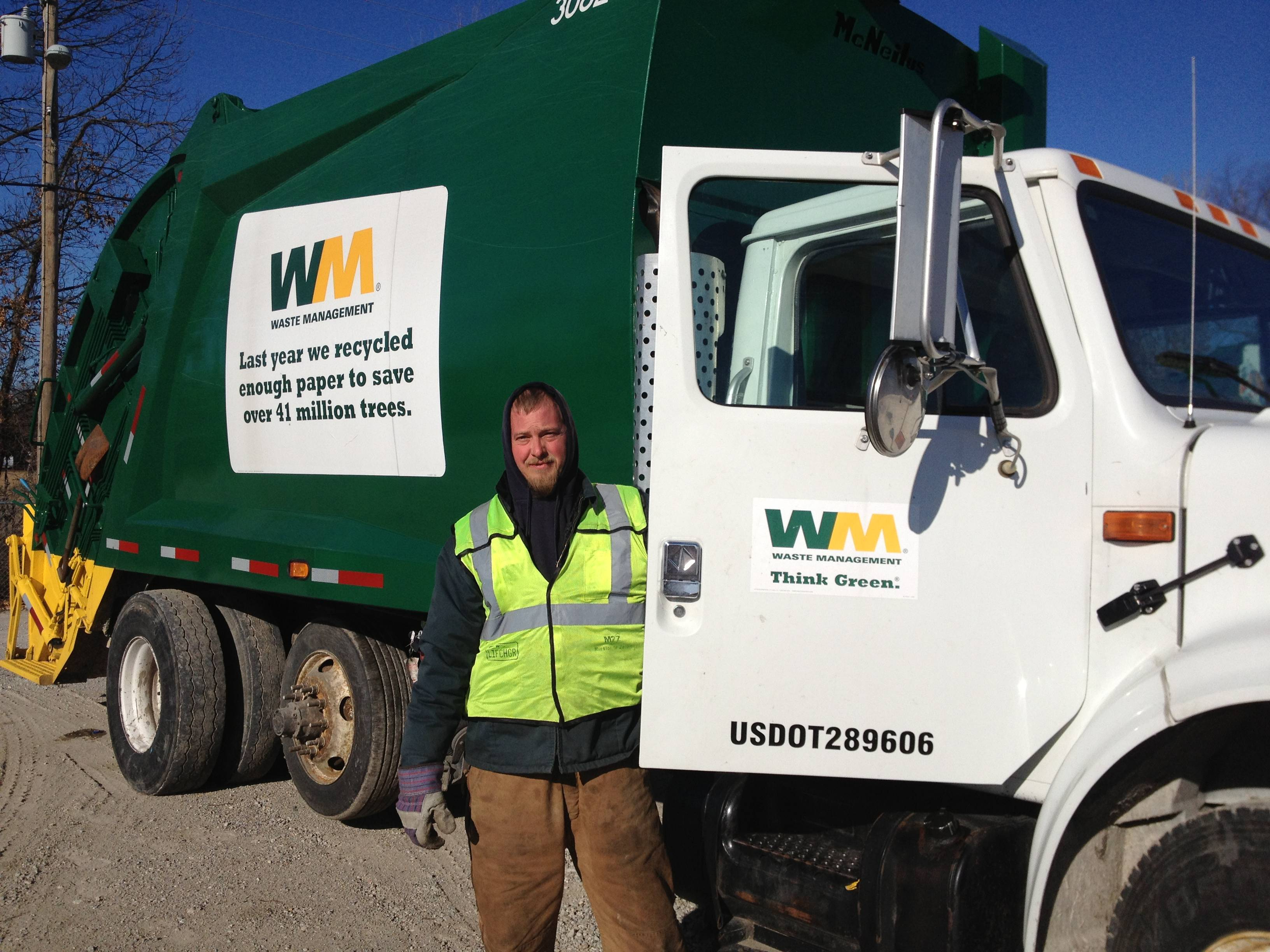 Waste Management's drivers know that to get the job done and keep safe, they've first got to keep warm.