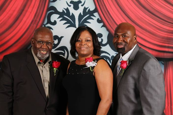 Lake County Housing Authority Commissioner Cranston Byrd, Family Self-Sufficiency Participant Jackie Cunningham and Executive Director/Chief Executive Officer David A. Northern, Sr. at the 2013 Most Influential African Americans of Lake County awards.
