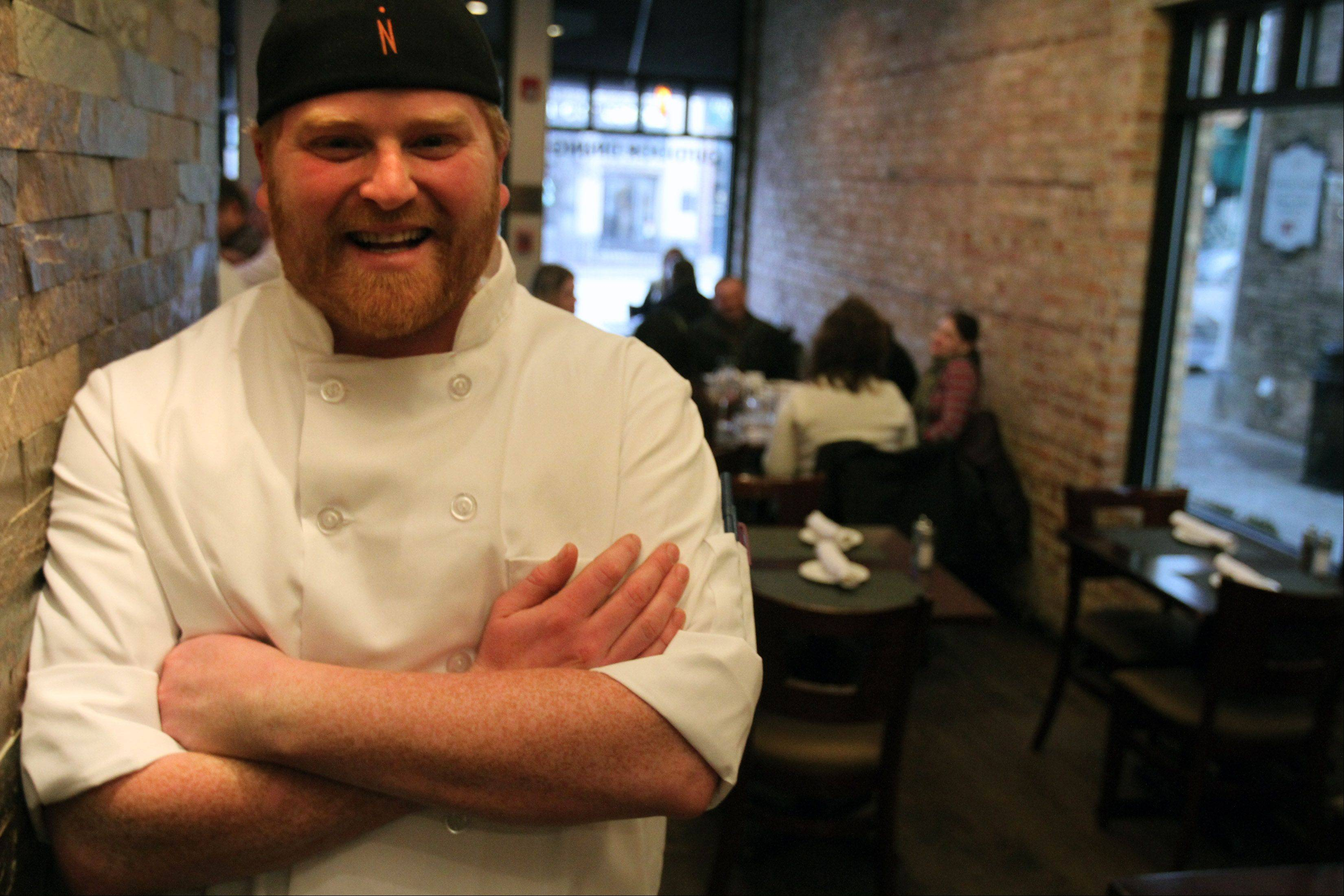 "Chef Paul Caravelli, executive chef at Libertyville's 545 North Bar & Grill, is one of 16 professional chefs and home cooks on ABC's ""The Taste."""