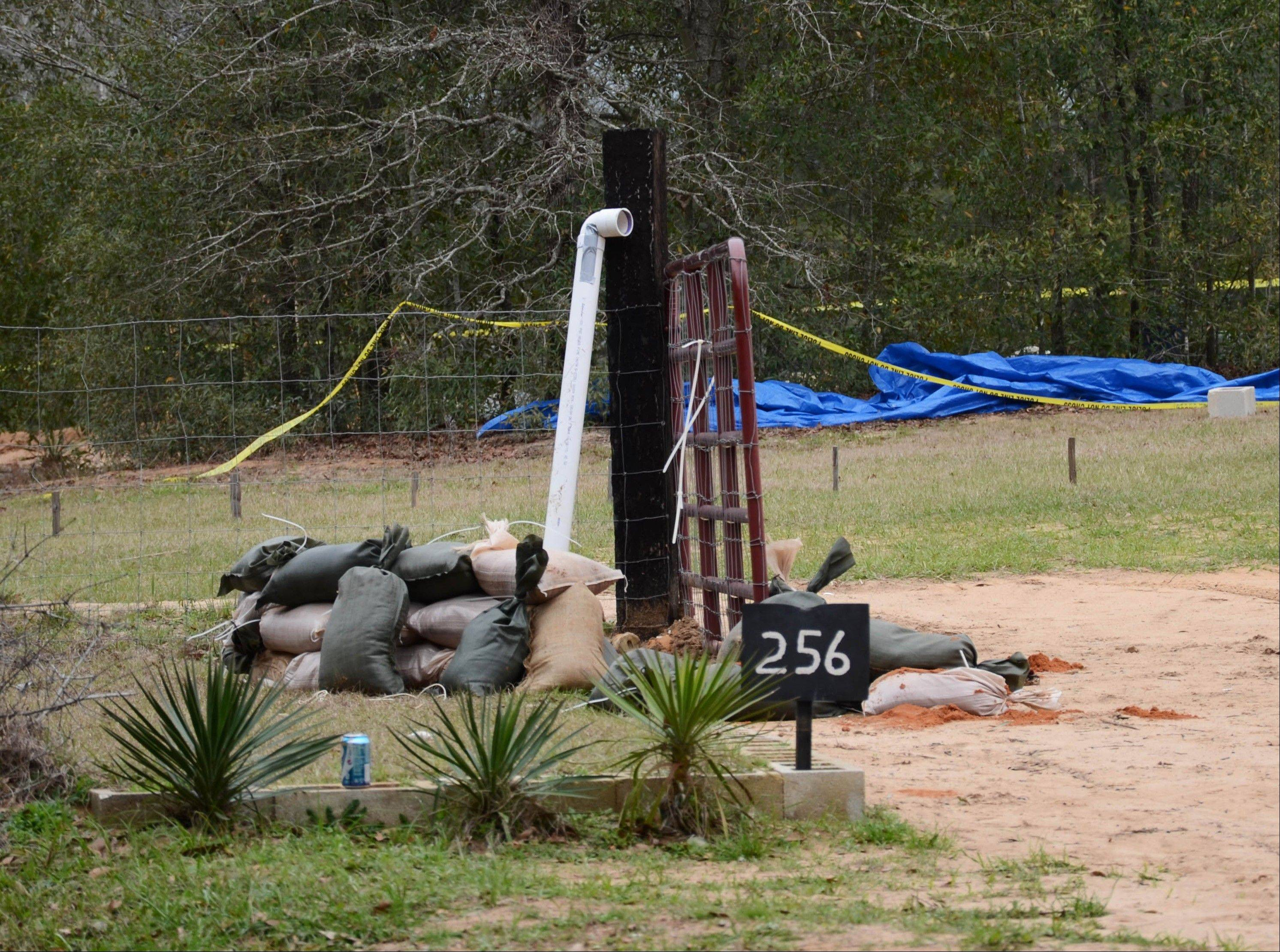 This undated photo released by the FBI on Tuesday shows the pipe FBI agents and negotiators used to communicate with Jimmy Lee Dykes as he held a 5-year-old boy hostage in a bunker on his Midland City, Ala., property for a week. The pipe was also used to send food, medicine and other items into the bunker. The boy was rescued and his captor was killed when federal agents raided the bunker on Monday.