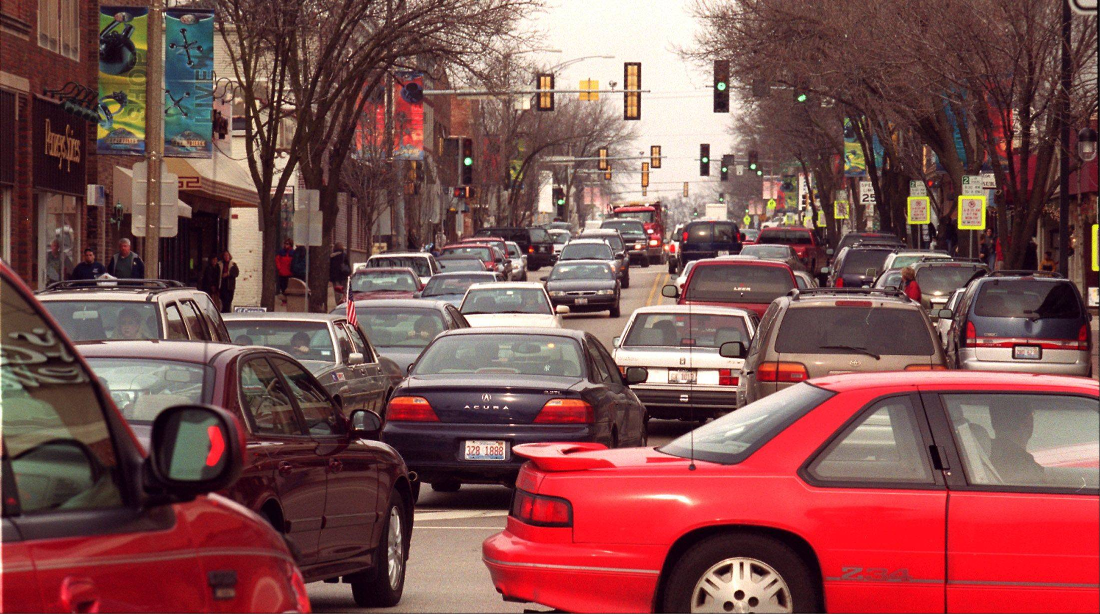 Daily Herald File Photo Gridlock costs commuters in terms of lost time and gas.