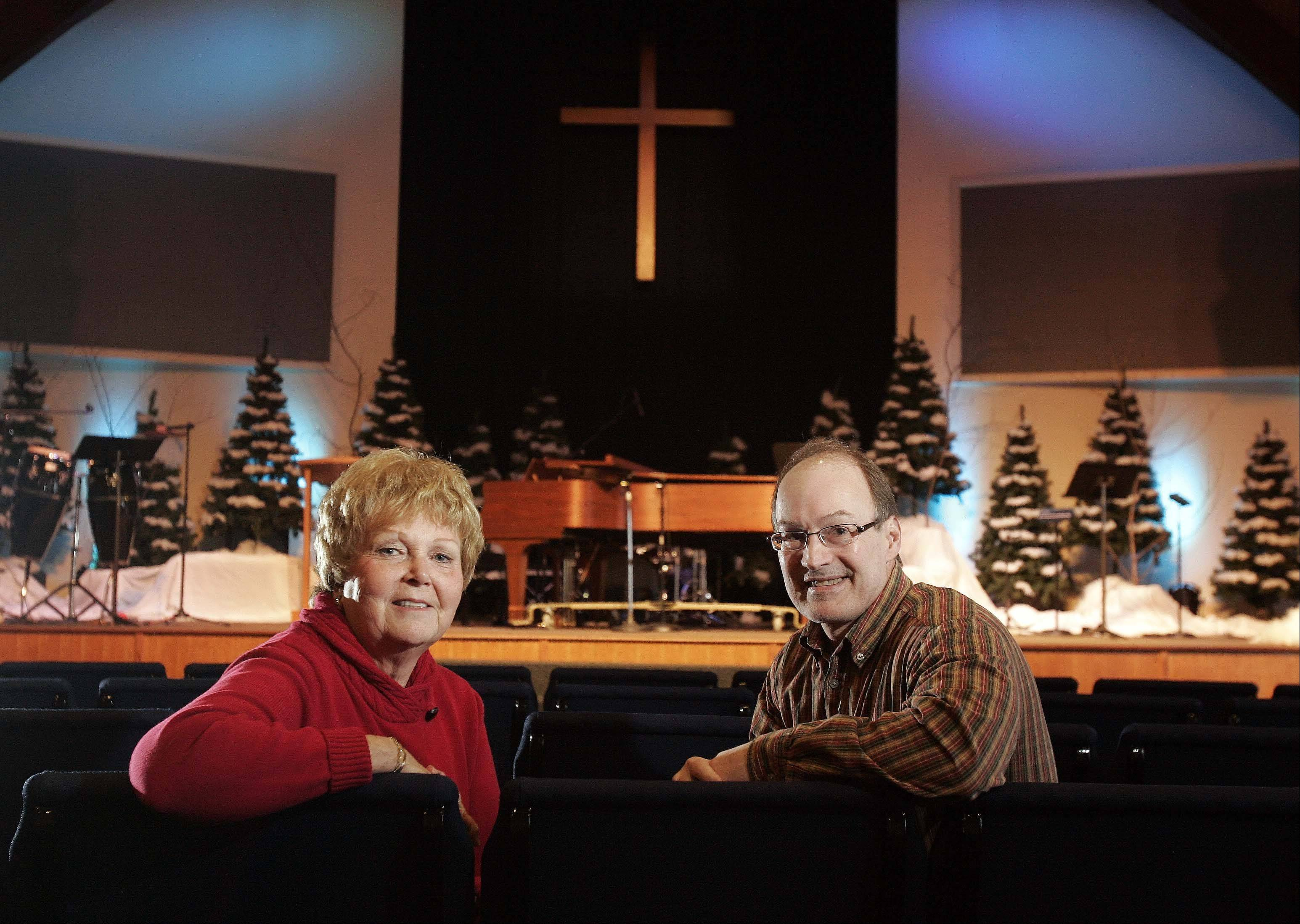 Becky Towner of Elgin is the chairwoman of 175th anniversary committee of First Baptist Church in Elgin. Here she is pictured with Senior Pastor Greg Huguley, who�s been at the church for five years.