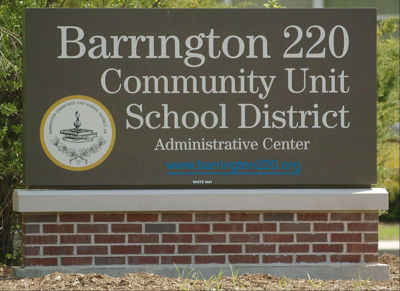 Barrington Unit District 220 officials are considering a proposal from a software developer to share information with parents and students about a smartphone app that would alert police and others when a child is threatened.