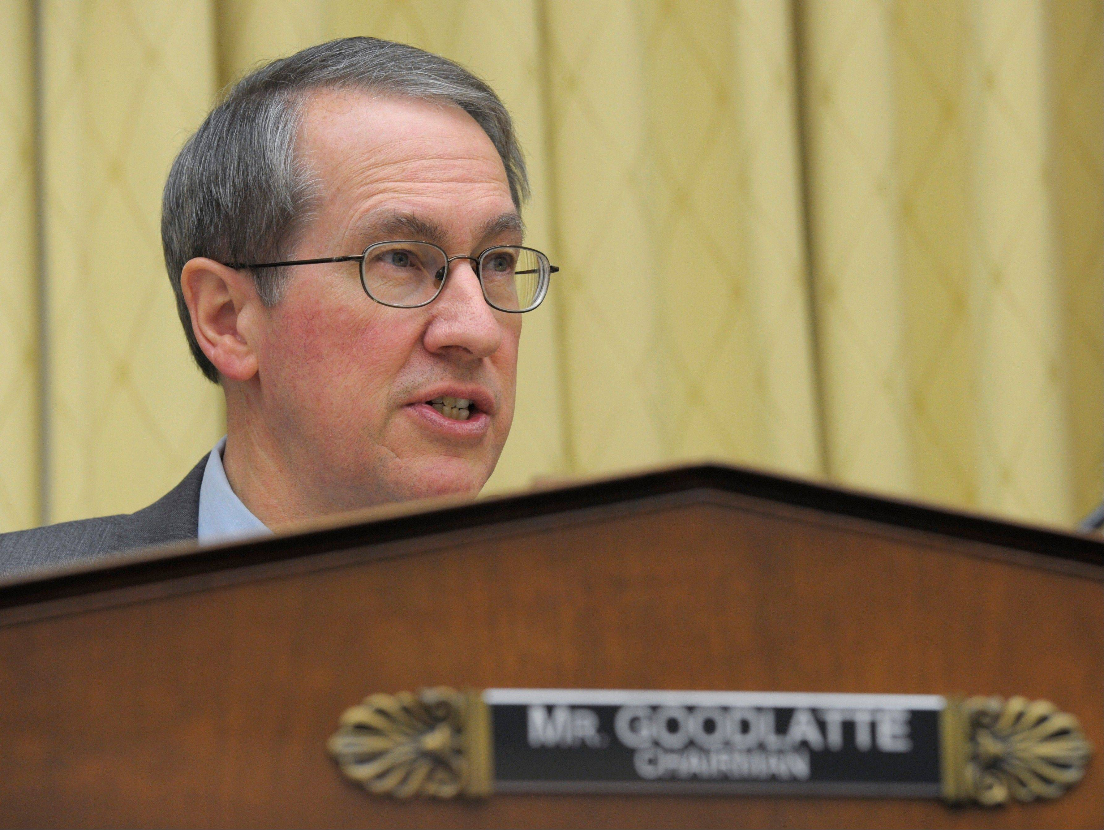 House Judiciary Committee Chairman Rep. Bob Goodlatte, a Virginia Republican, gives his opening remarks on Capitol Hill in Washington Tuesday, prior to the committee's hearing on immigration.
