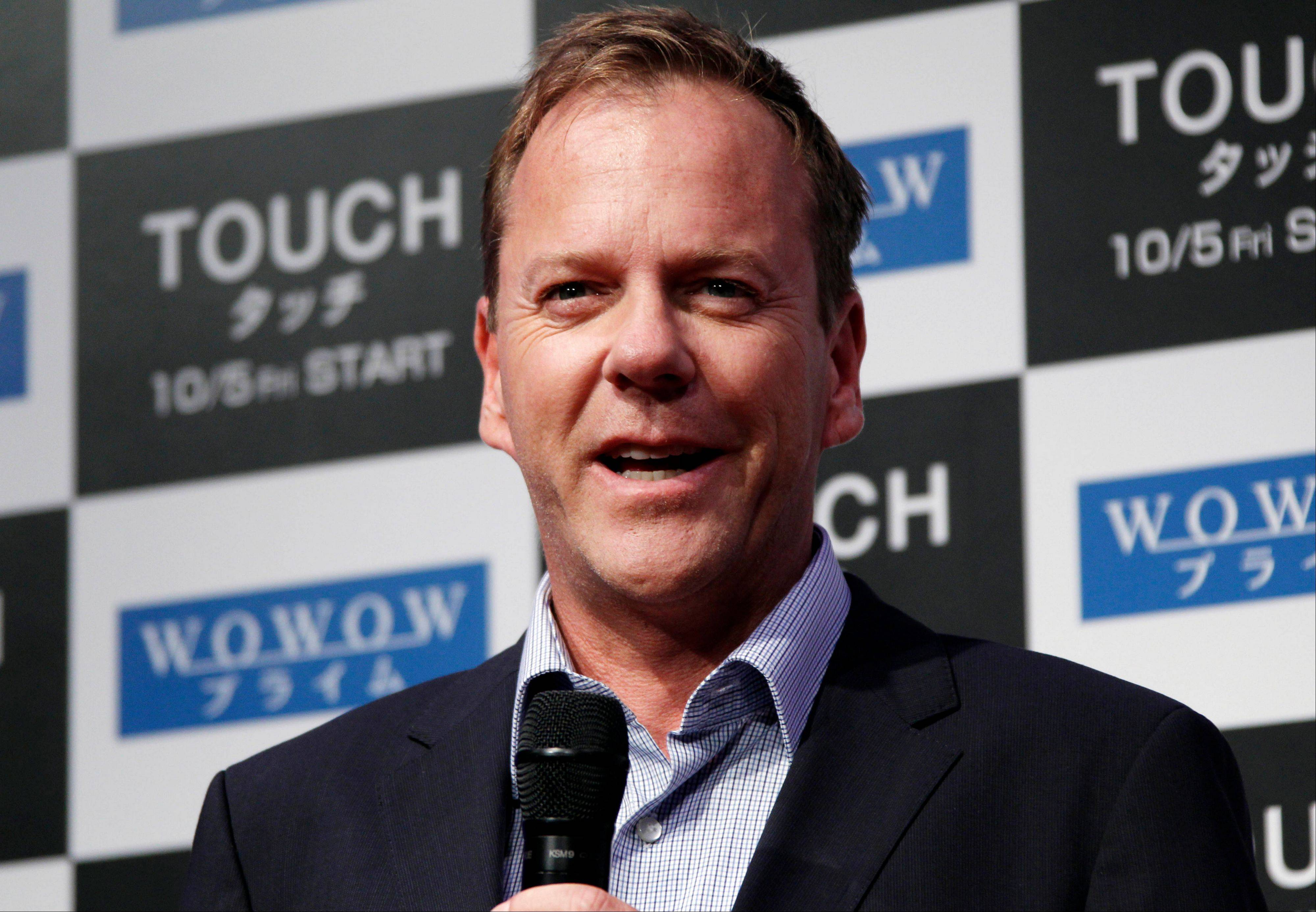 Kiefer Sutherland has been named Man of the Year by Harvard University's Hasty Pudding Theatricals. Sutherland will be roasted and receive his ceremonial pudding pot at a ceremony on Friday, Feb. 8.