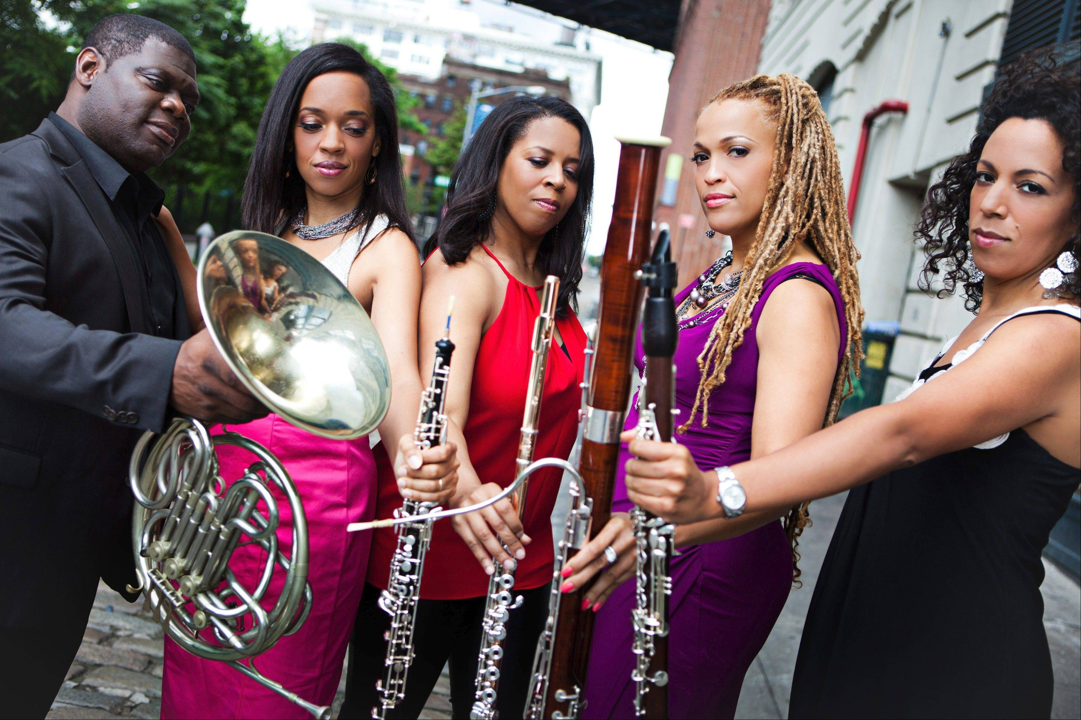 Imani Winds plays a Valentine's Day concert at the Lumber Center for the Performing Arts on Thursday, Feb. 14.