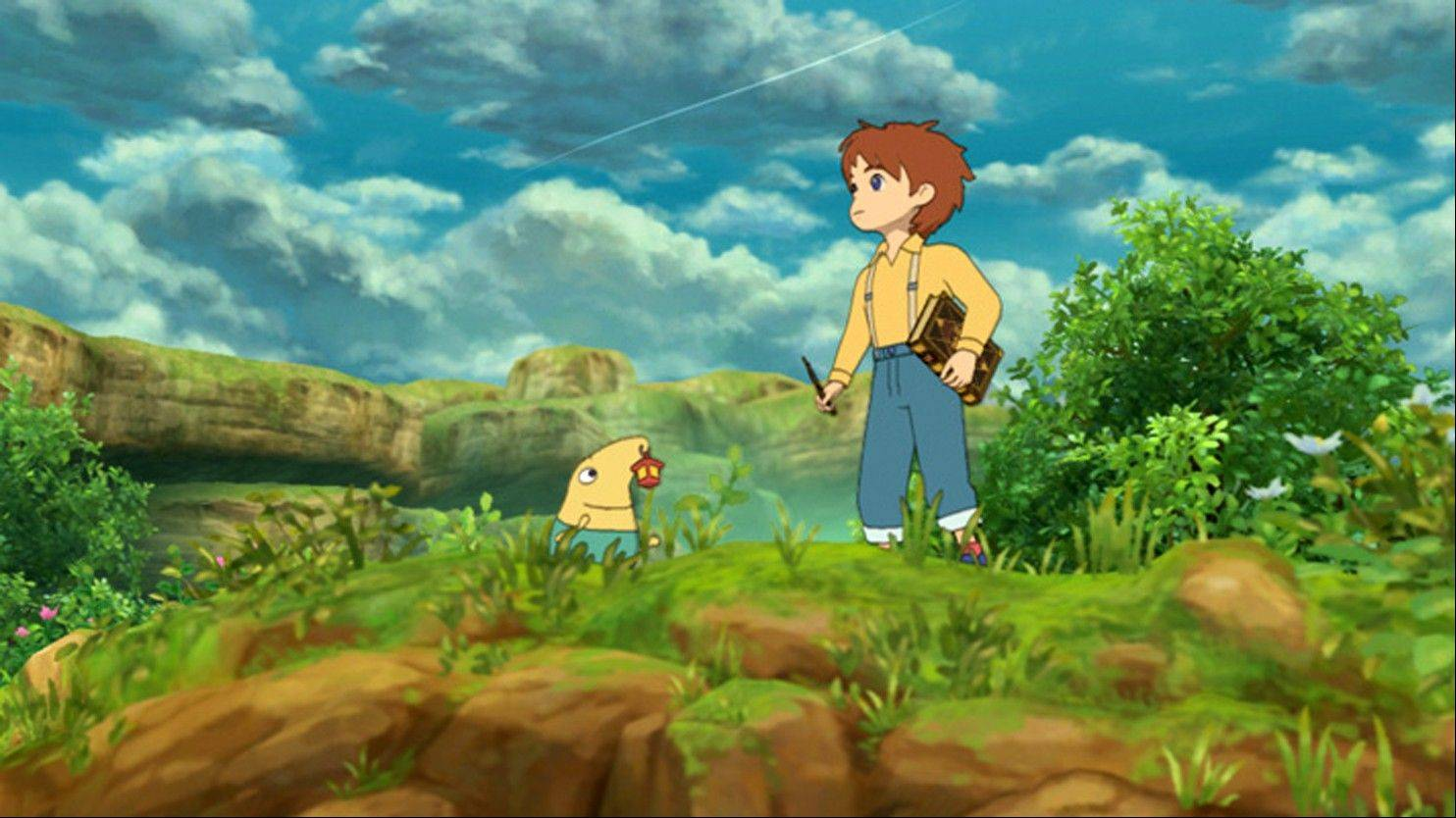 "Oliver's journey takes him through a succession of lushly drawn towns in the role-playing epic ""Ni no Kuni: Wrath of the White Witch."""