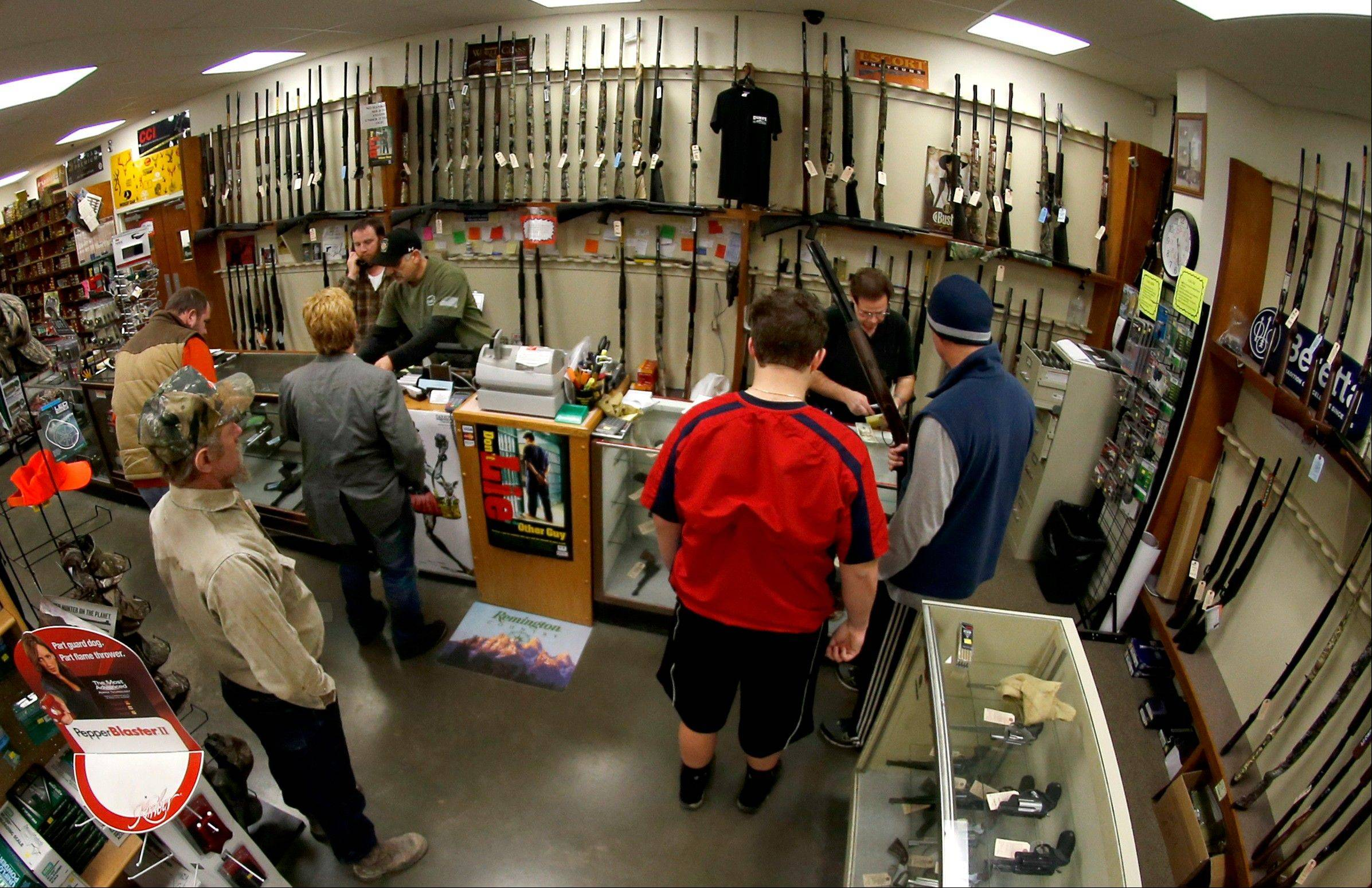 The FBI posted new data for gun background checks covering through January 2013 that says gun checks dropped more than 10 percent nationwide, from roughly 2.8 million in December 2012 to 2.5 million in January 2013.
