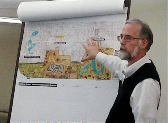 Lake County Forest Preserve District officials are planning to build new trails and other amenities at the Buffalo Creek preserve near Buffalo Grove. Mike Fenelon talks about the plans last April.