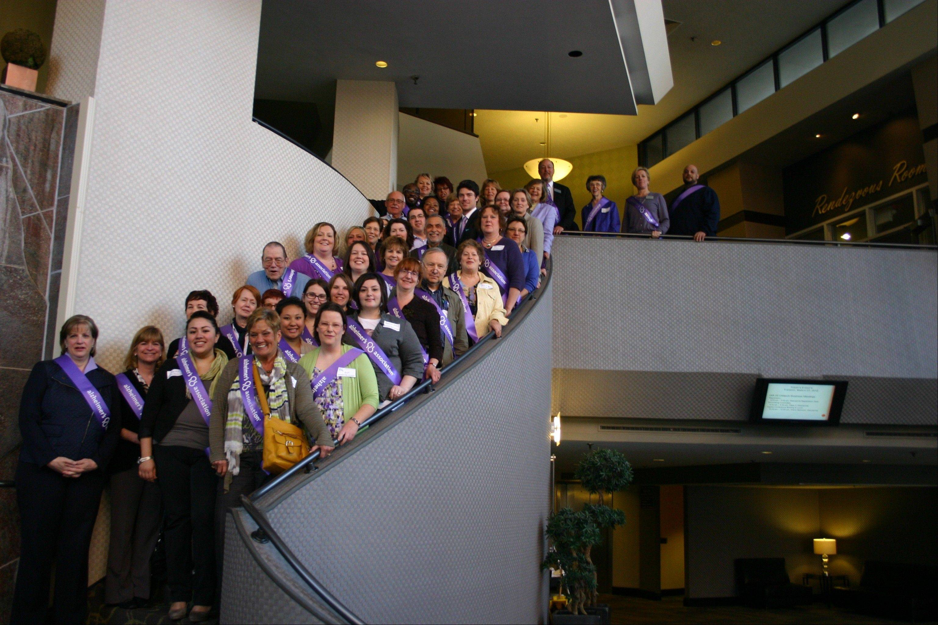 Advocates traveled to Springfield to discuss Alzheimer's initiatives during last year's Illinois Action Summit Day.