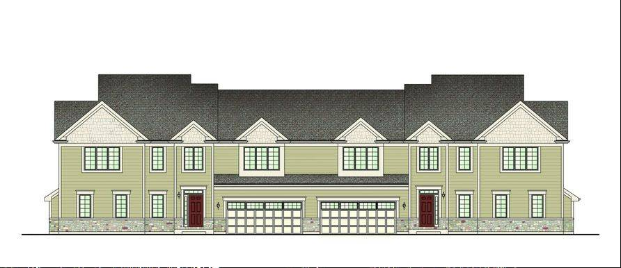 Rendering of the proposed Greenleaf townhouse project in Vernon Hills.
