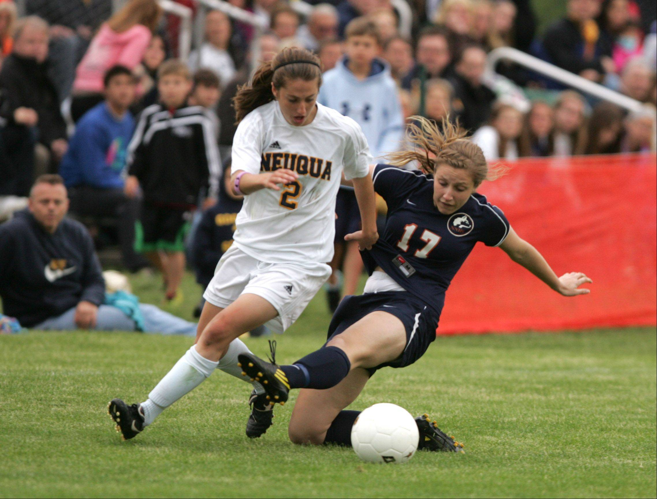 Neuqua Valley�s Zoey Goralski (2) will play soccer at UCLA next year.
