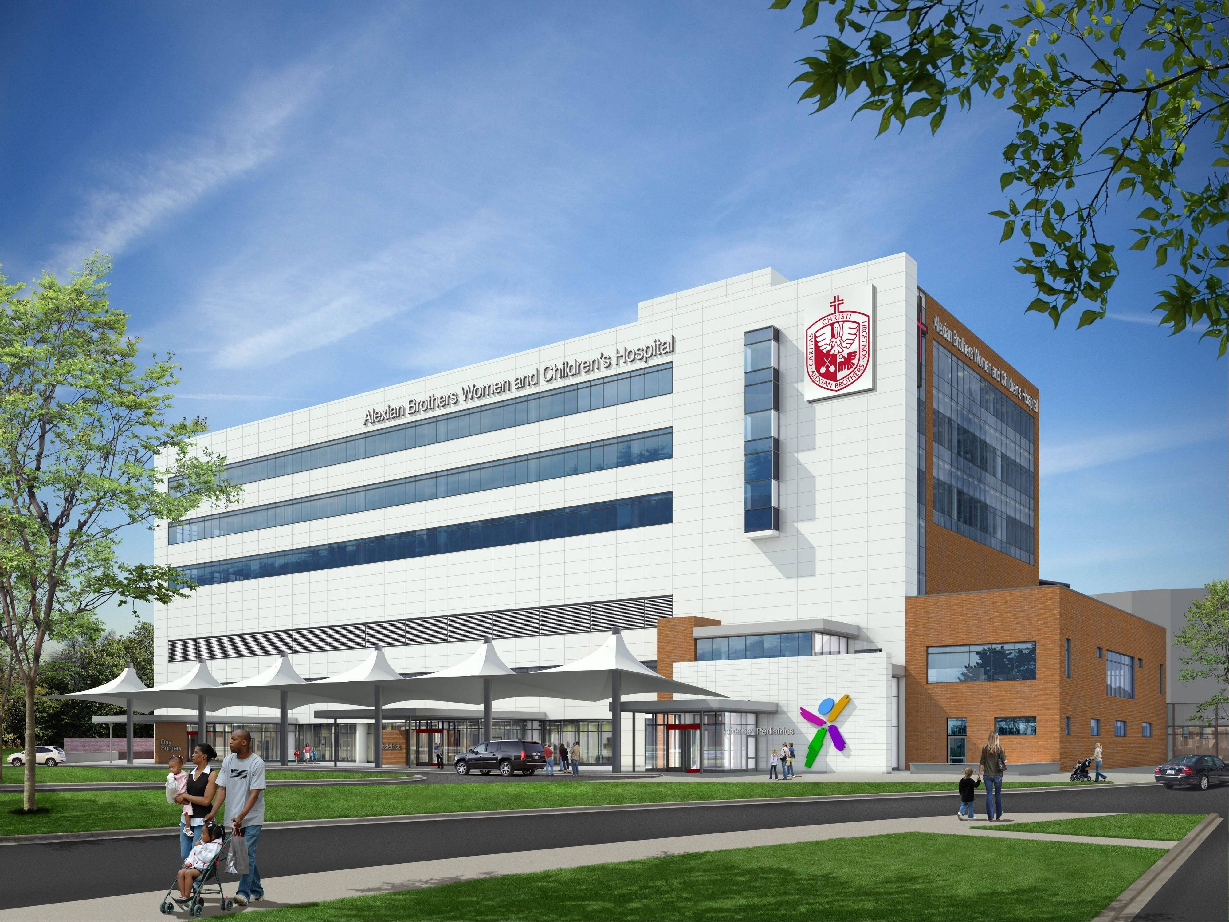 This is a rendering of what the exterior of the new hospital will look like when completed.
