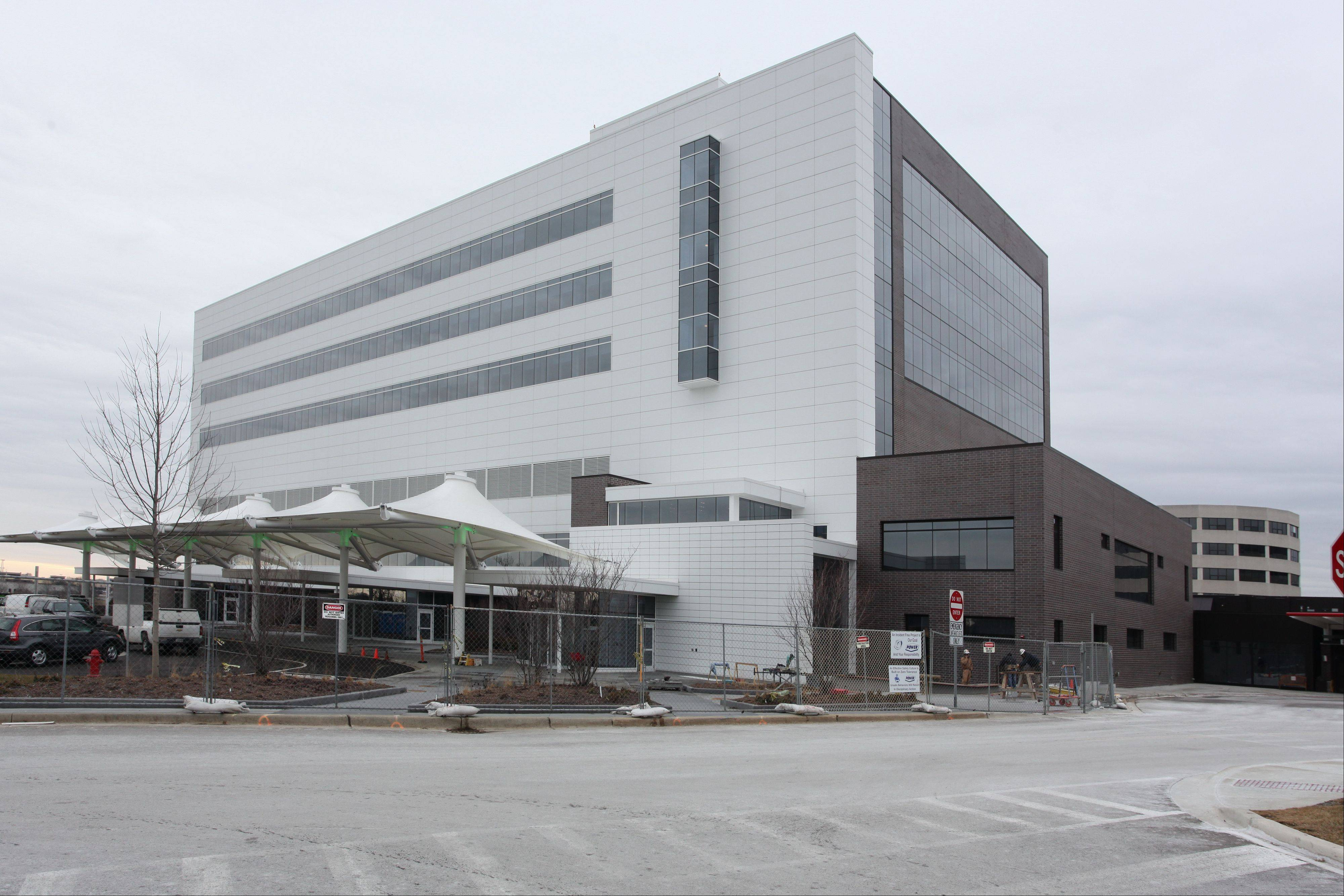This is what the exterior of the new Alexian Brothers Women and Children's Hospital looked like last week.