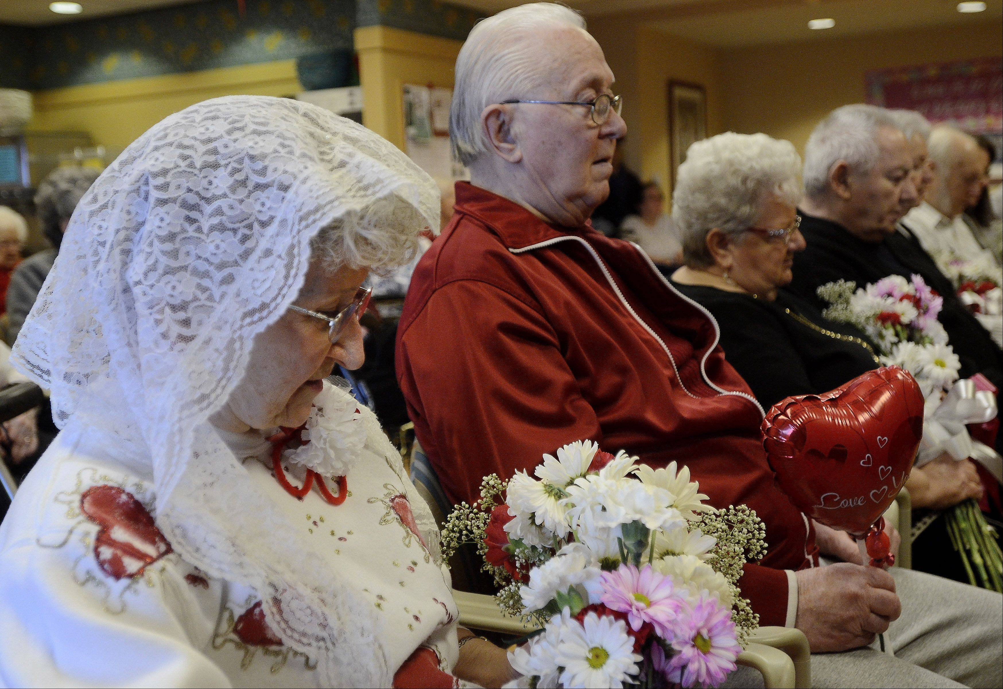 Helen and Arthur Polich renewed their wedding vows Thursday along with three other couples at Victory Centre of Bartlett.