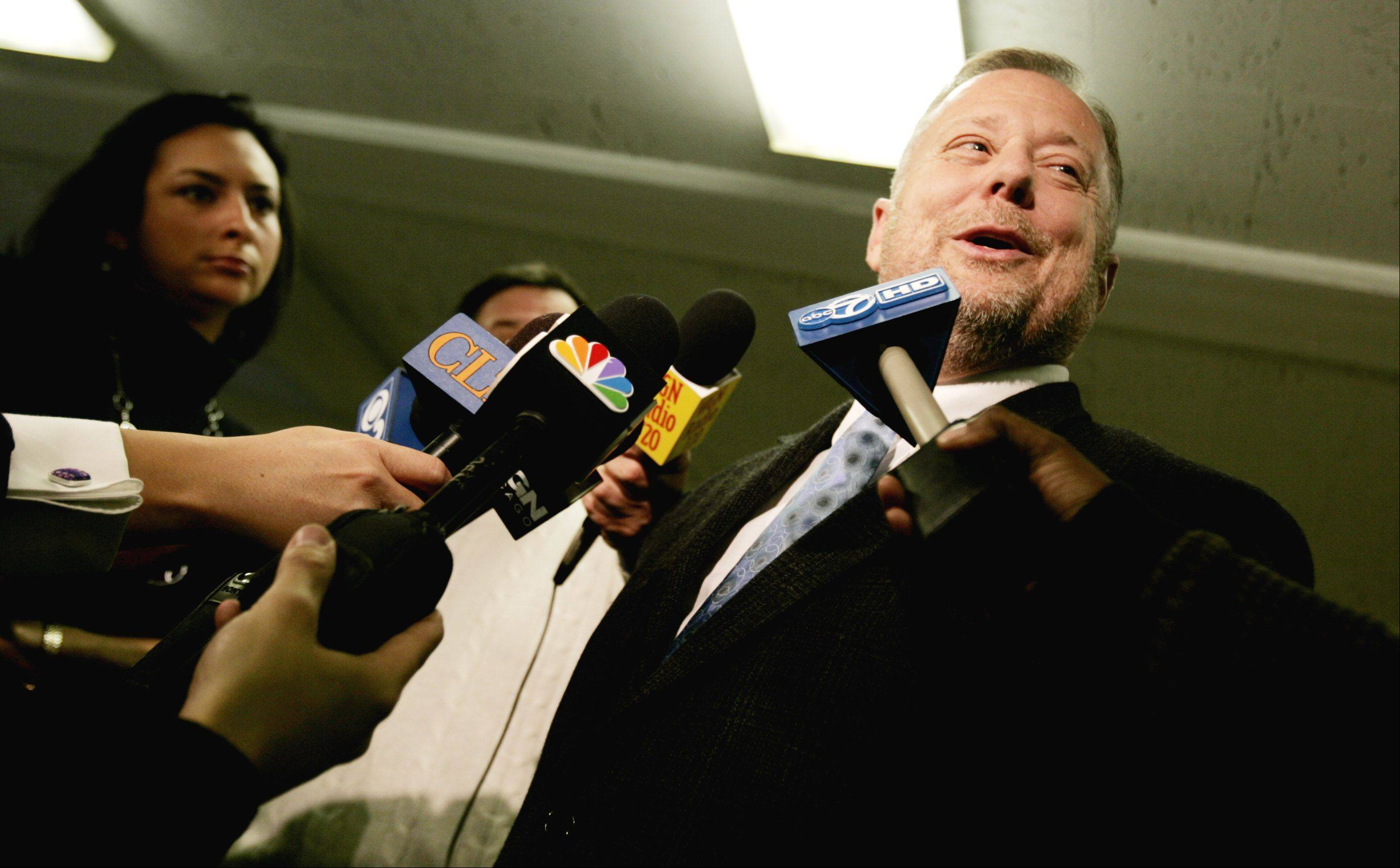 Pastor Robert Hatfield of First Church of Lombard talks to reporters in 2007 after the death of Lombard resident Rose Tani, mother of NASA astronaut Dan Tani.