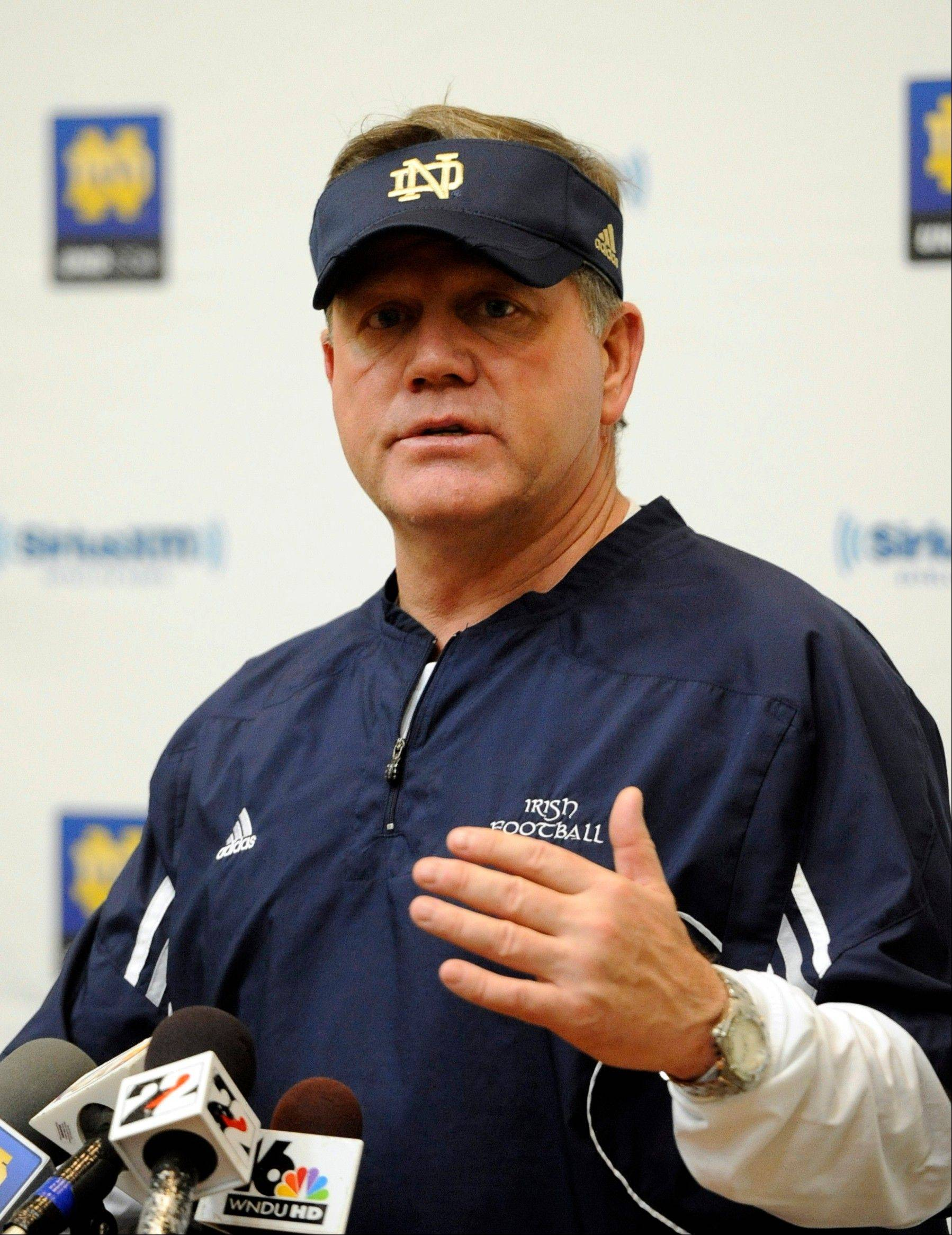 Notre Dame coach Brian Kelly says this recruiting classes fills some big needs.