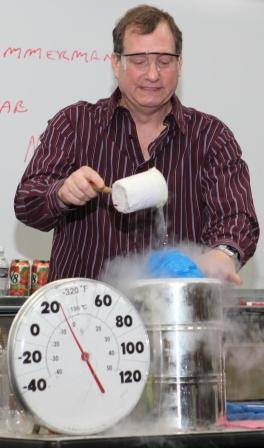 Mr. Freeze demonstrates the popular cryogenics display that will amaze onlookers with sub-zero science and surprises!