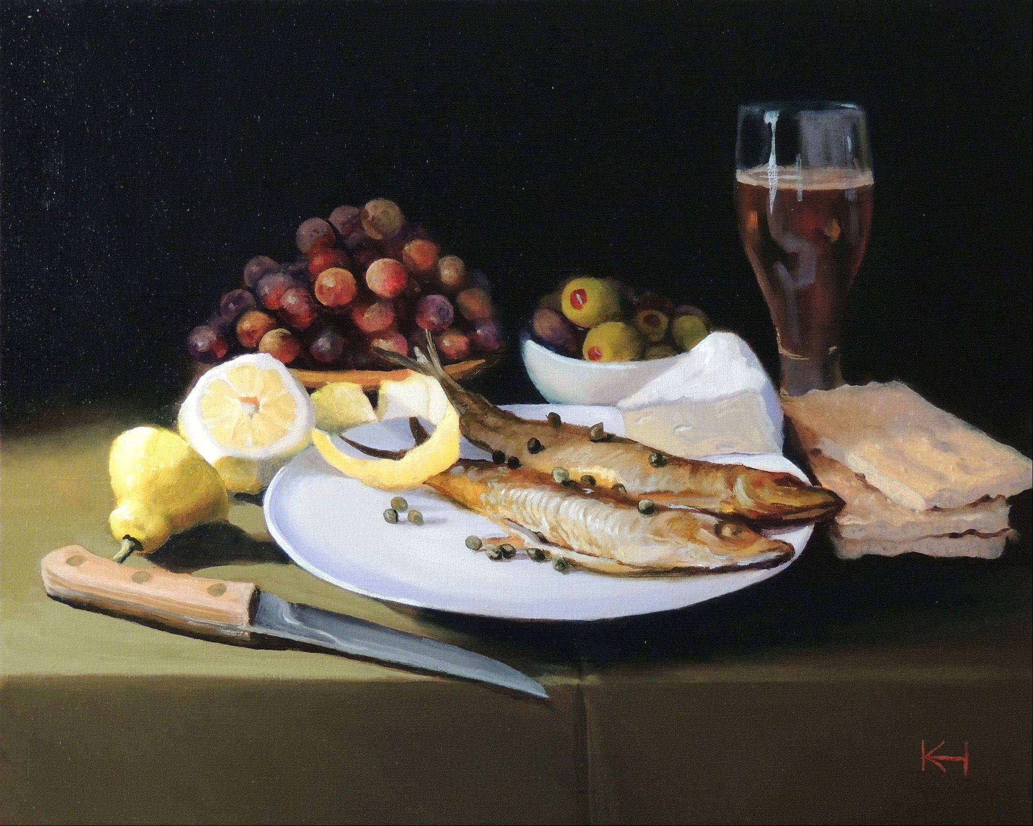 """The Sea Captain´s Dinner,"" oil on canvas, by Kevin Hunter"