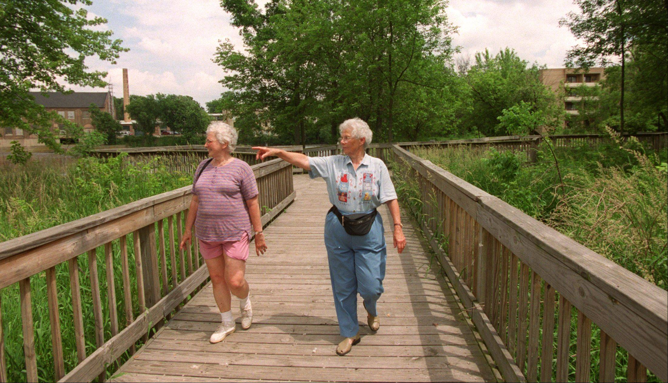 Users enjoy the Batavia Riverwalk, which includes a boardwalk that includes a gazebo, a river outlook and a walk through a wildflower sanctuary. Volunteers and money are being sought to replace the boardwalk, which was built in the 1990s.