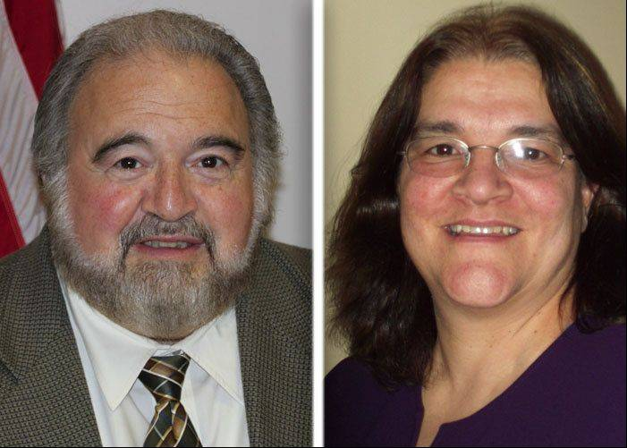 Incumbent Frank Loffredo, left, and Mona Mustafa, right, are running for mayor in Lake Villa.