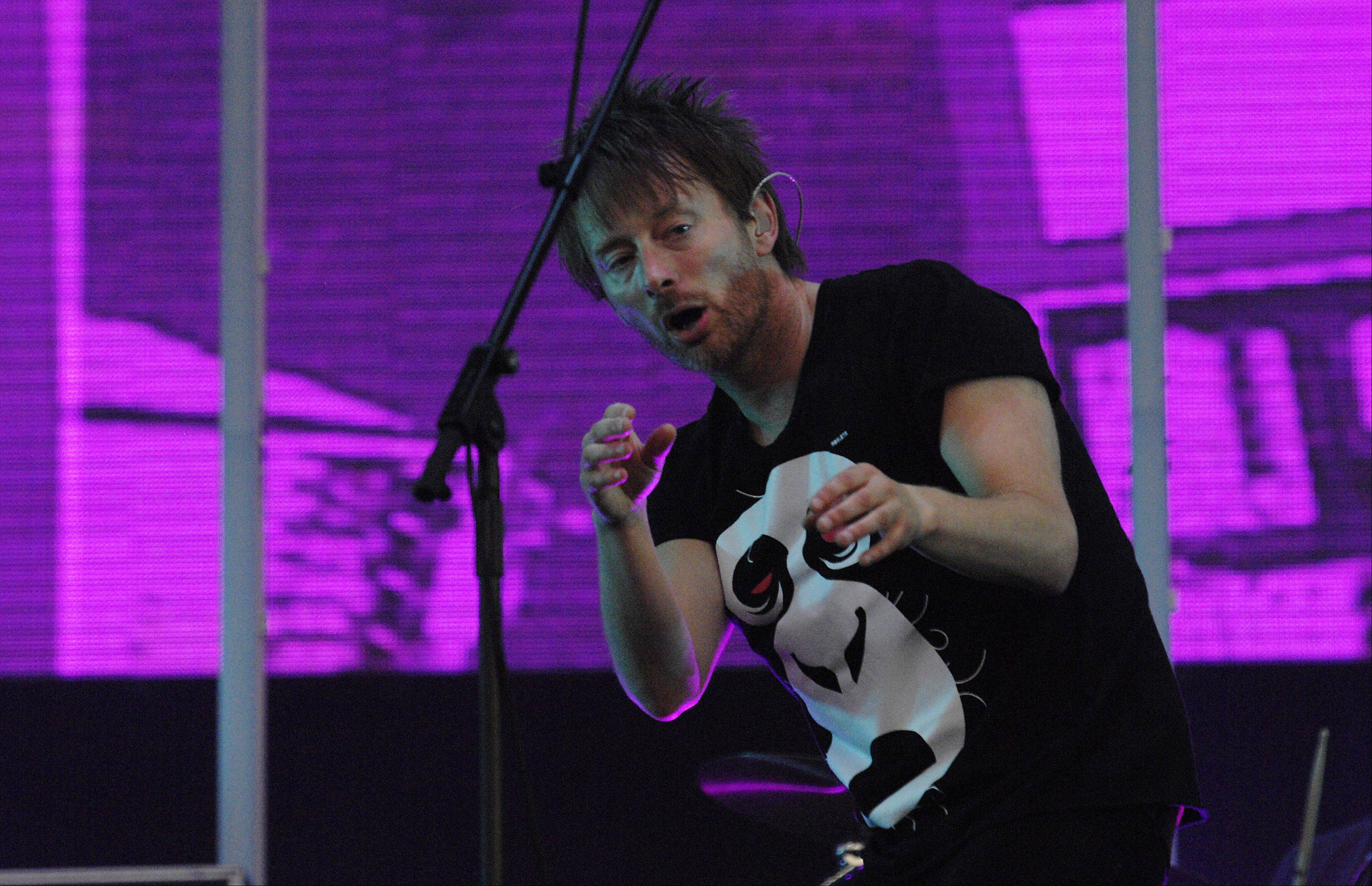 Radiohead front man Thom Yorke performs at Lollapalooza in 2011.