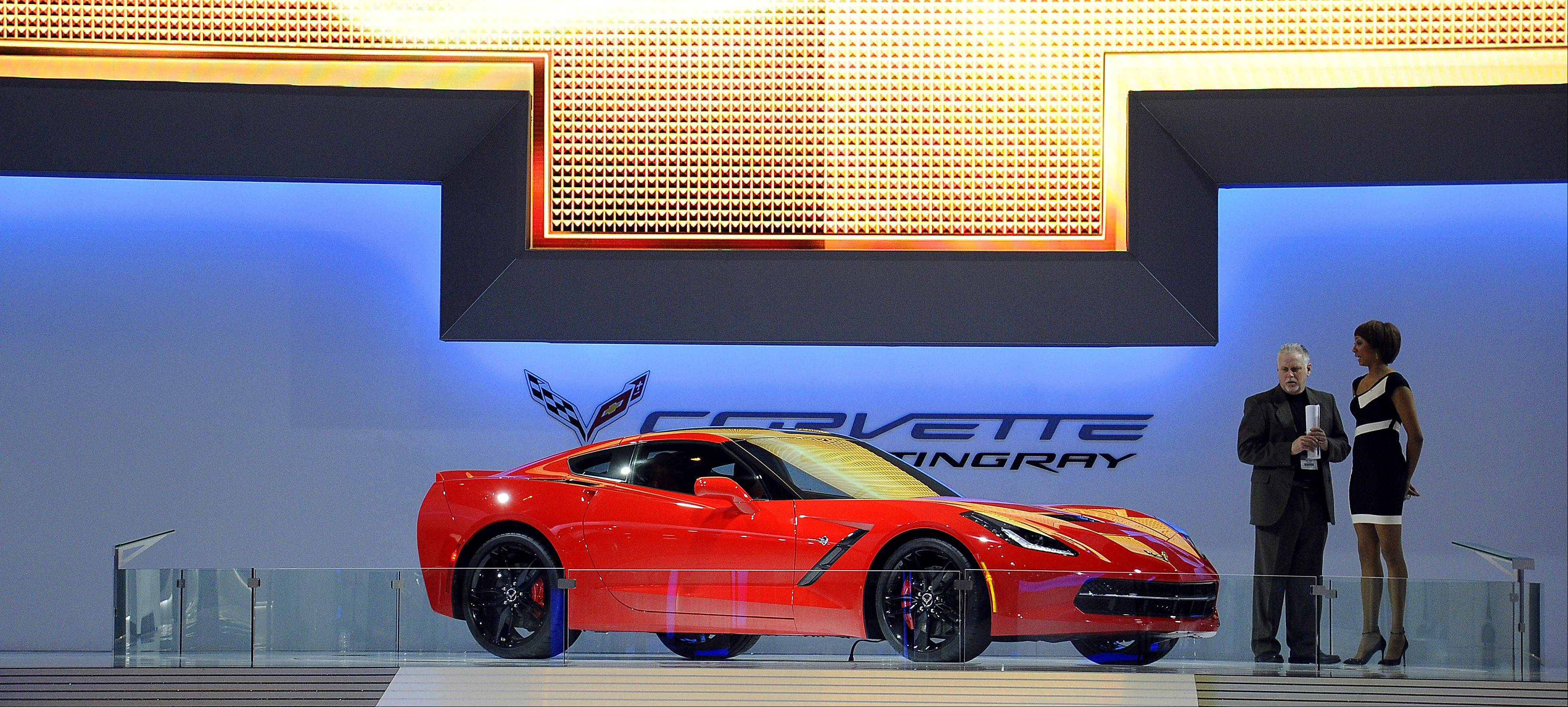 The 2014 Corvette Stingray drew plenty of gasps at the Chicago Auto Show.