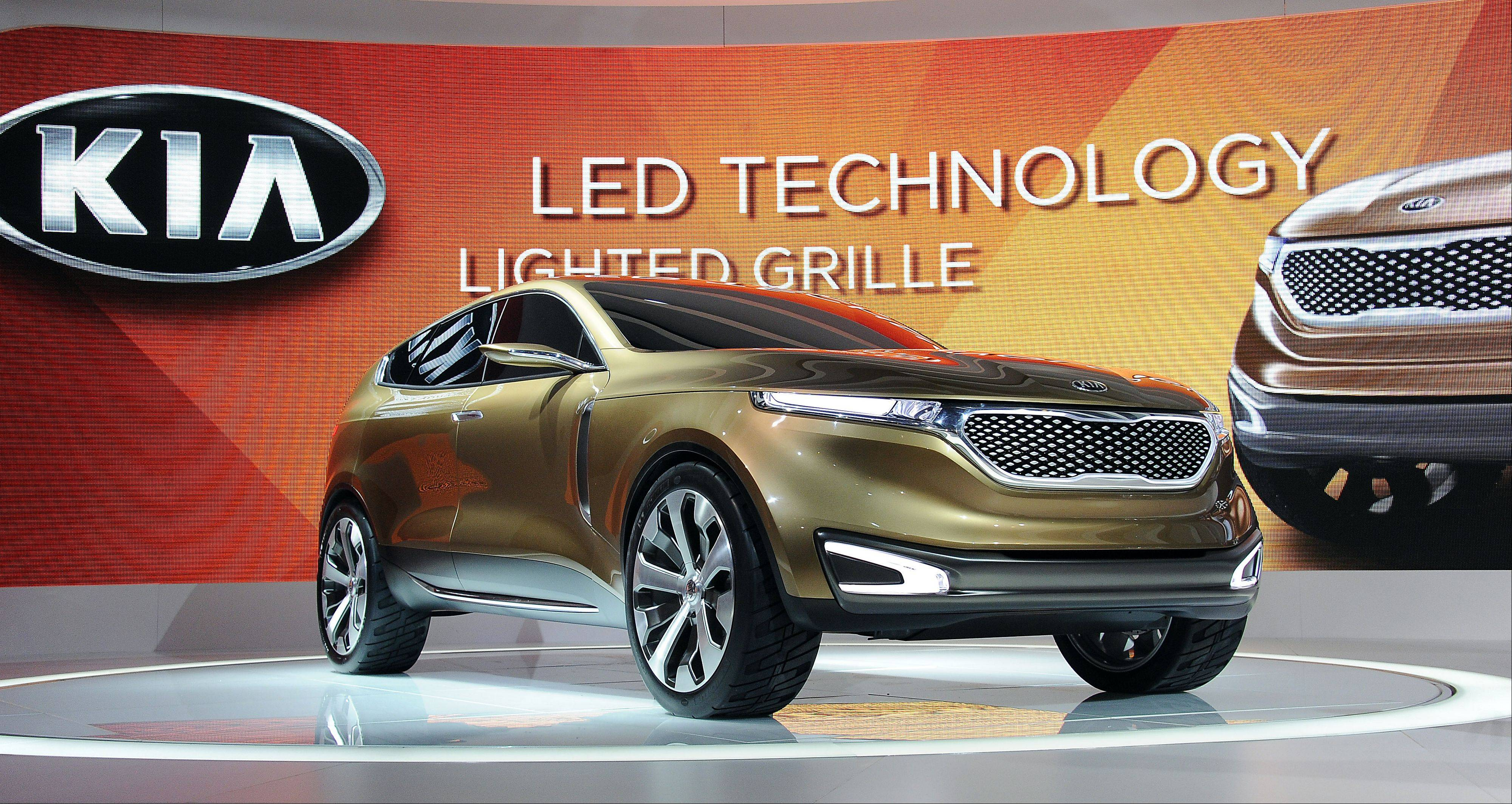 Kia shows off its latest crossover, the Cross GT, at the Chicago Auto Show.