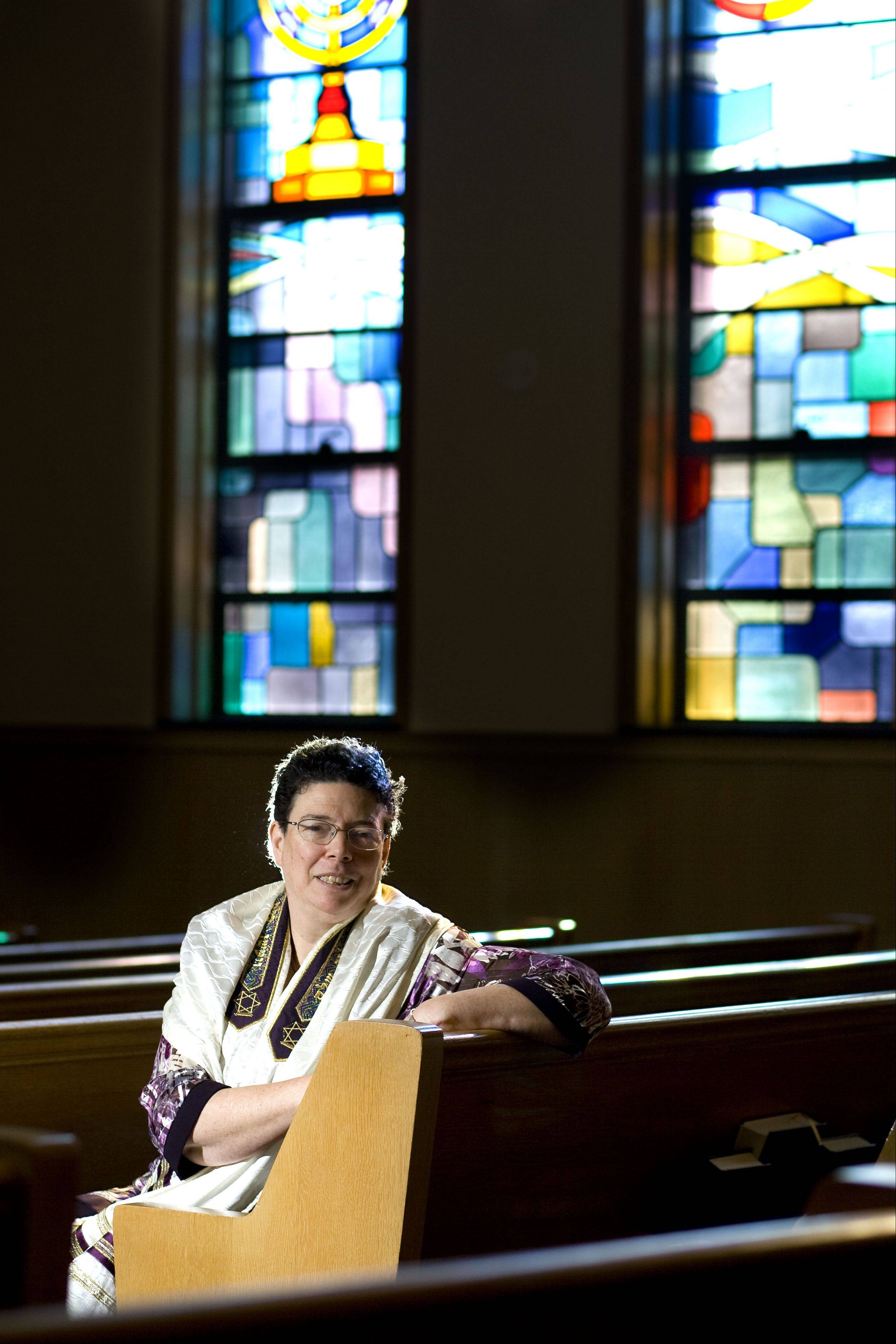 Rabbi Margaret Frisch Klein of Congregation Kneseth Israel of Elgin will leading the way for the congregation as they celebrate their 120th anniversary this year. Festivities include an appearance by comedian Robert Klein at Elgin Community College this Saturday and a celebration brunch this Sunday which will feature a Klezmer Band.