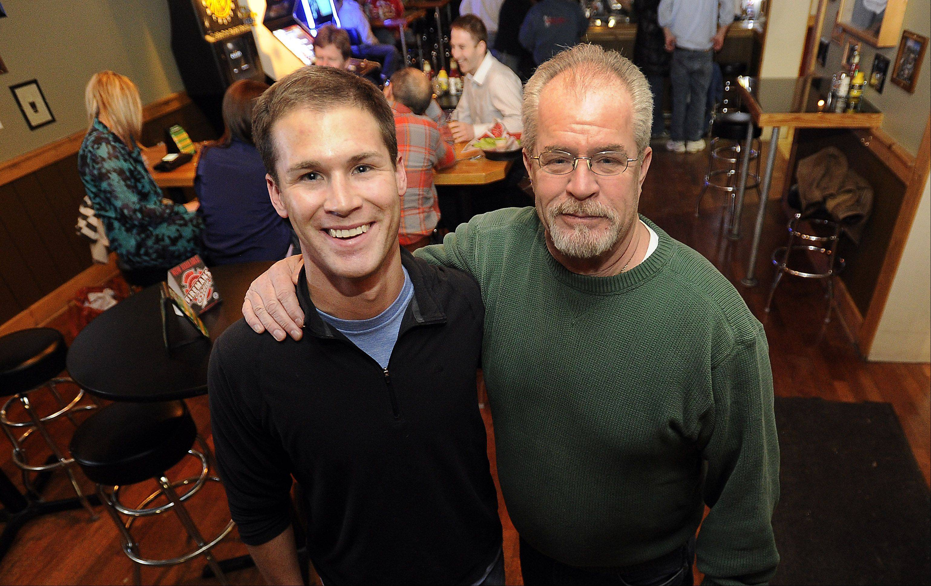 Owners Timothy O'Brien, right, and son James run TJ O'Brien's in downtown Palatine.