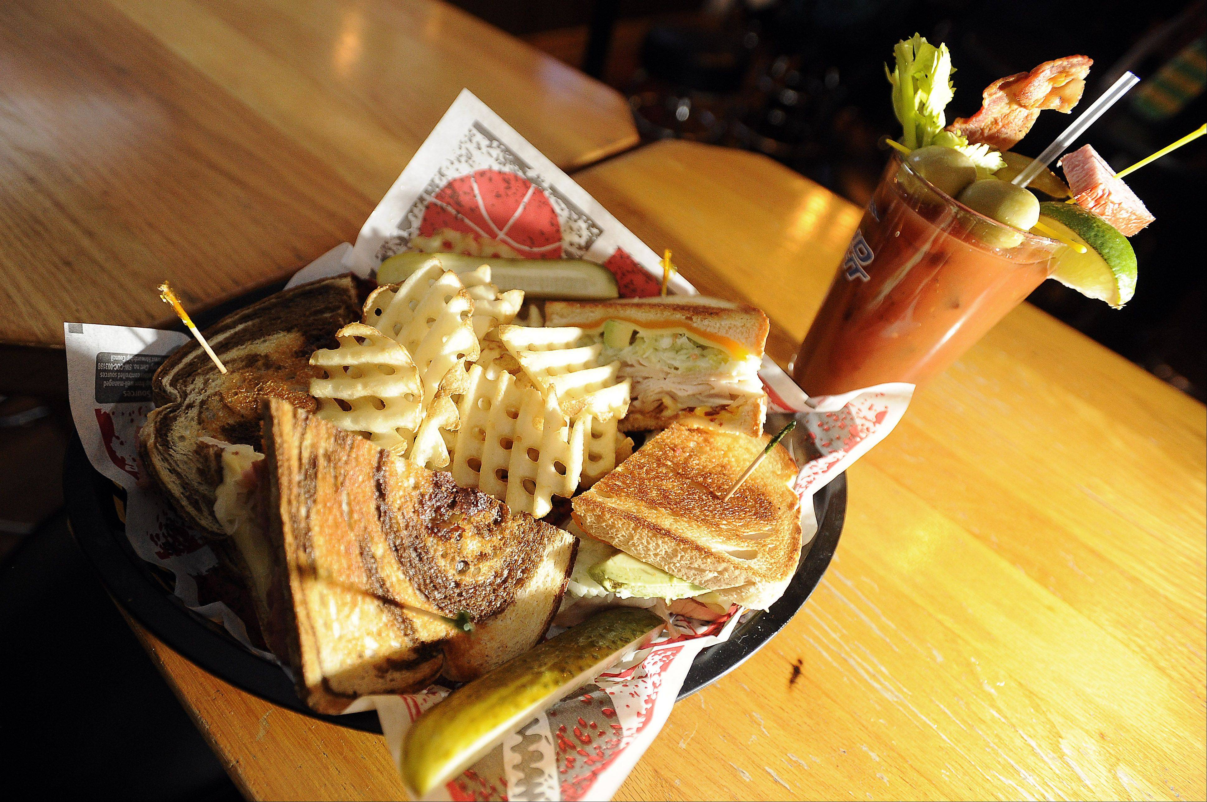 "TJ O'Brien's Bar and Grill in Palatine serves up The ""O"" Reuben, which is a favorite with a Bloody Mary."