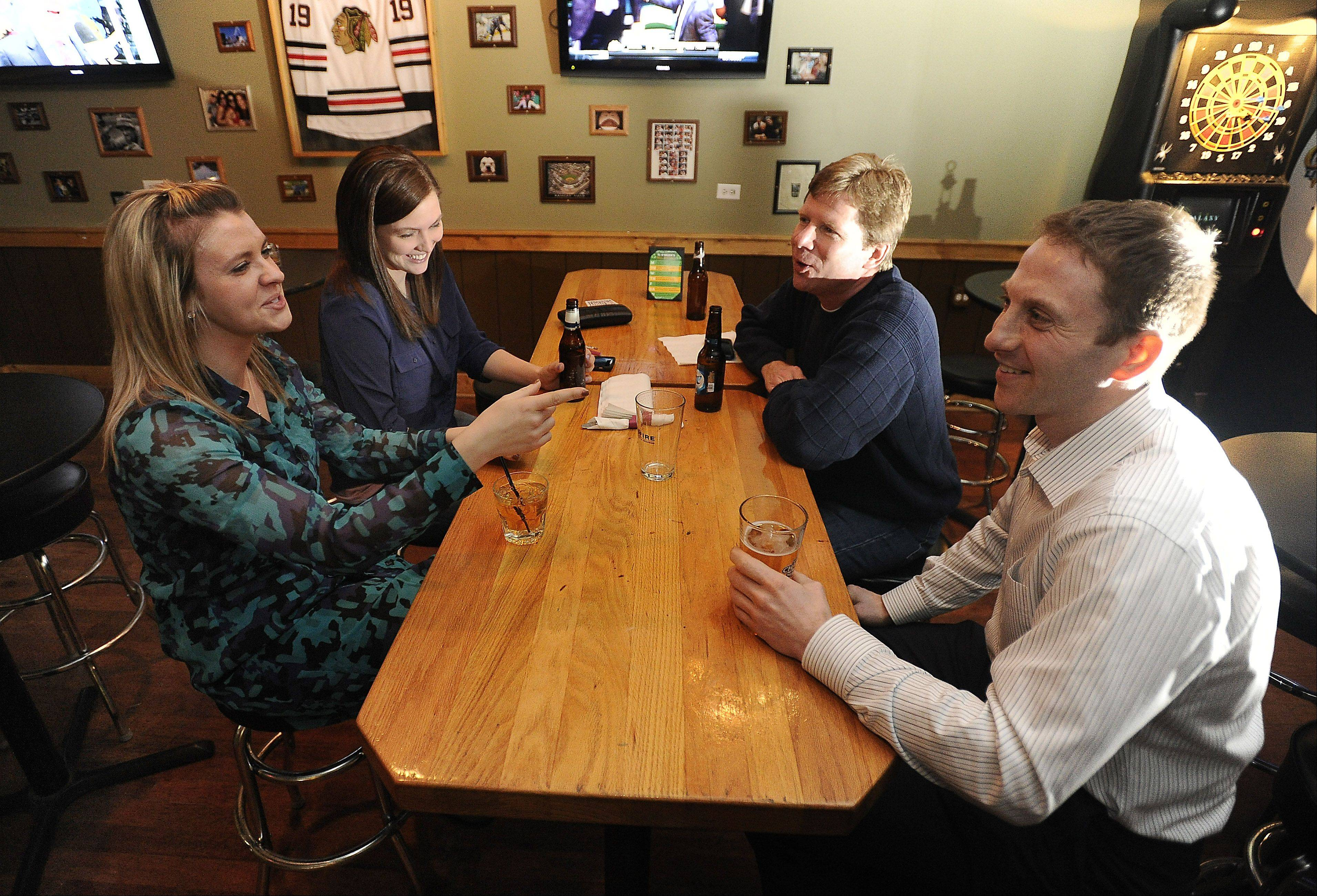 TJ O'Brien's Bar and Grill in Palatine caters to patrons like Lucy Paul of Chicago, Sheena Harrison of Itasca, Mike Kunstman of Palatine and Joe Fahndrich of Chicago.