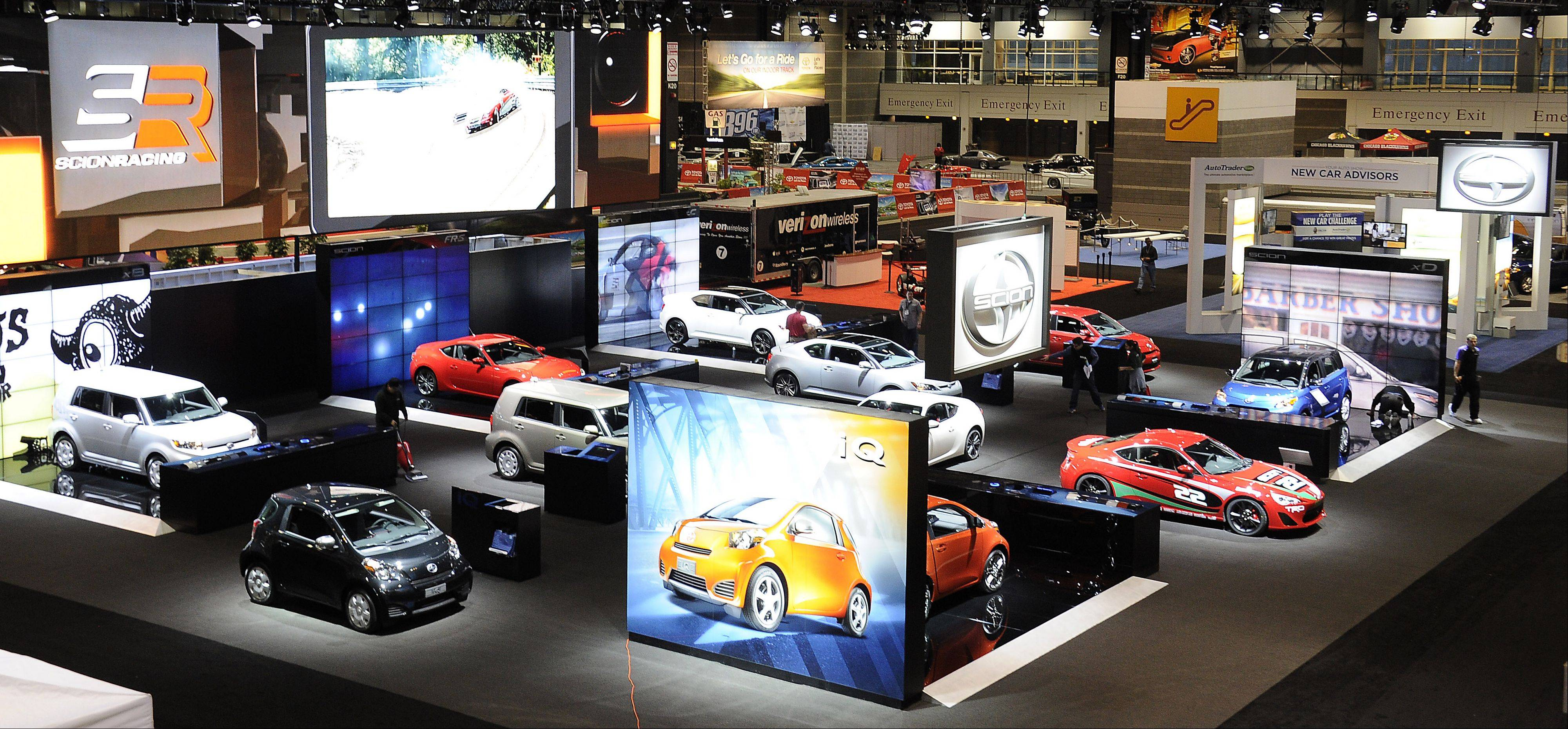 The cars are all lined up to meet the crowds at the 2013 Chicago Auto Show this weekend.