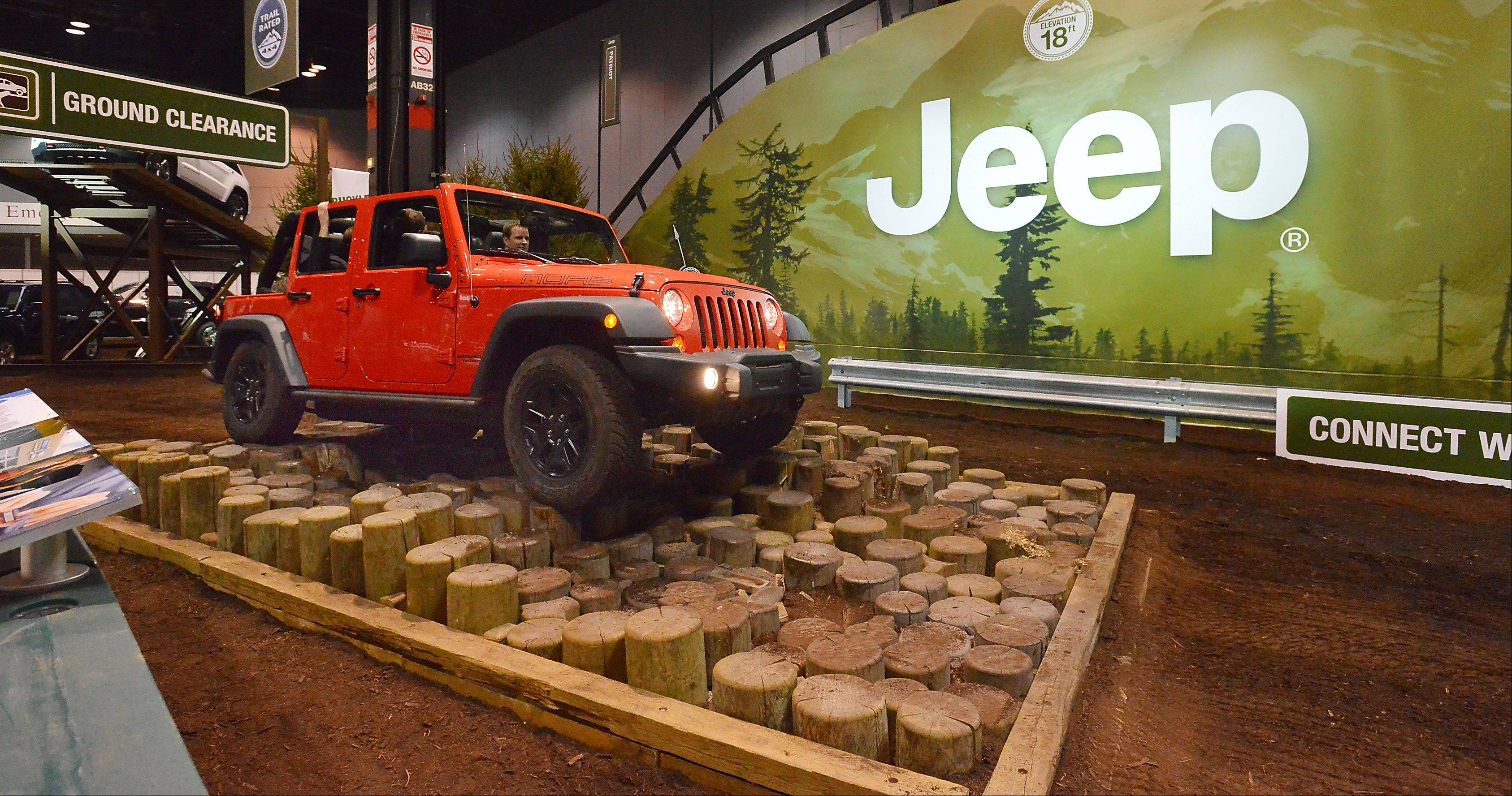 Visitors' driving skills can be tested at the Jeep obstacle course.