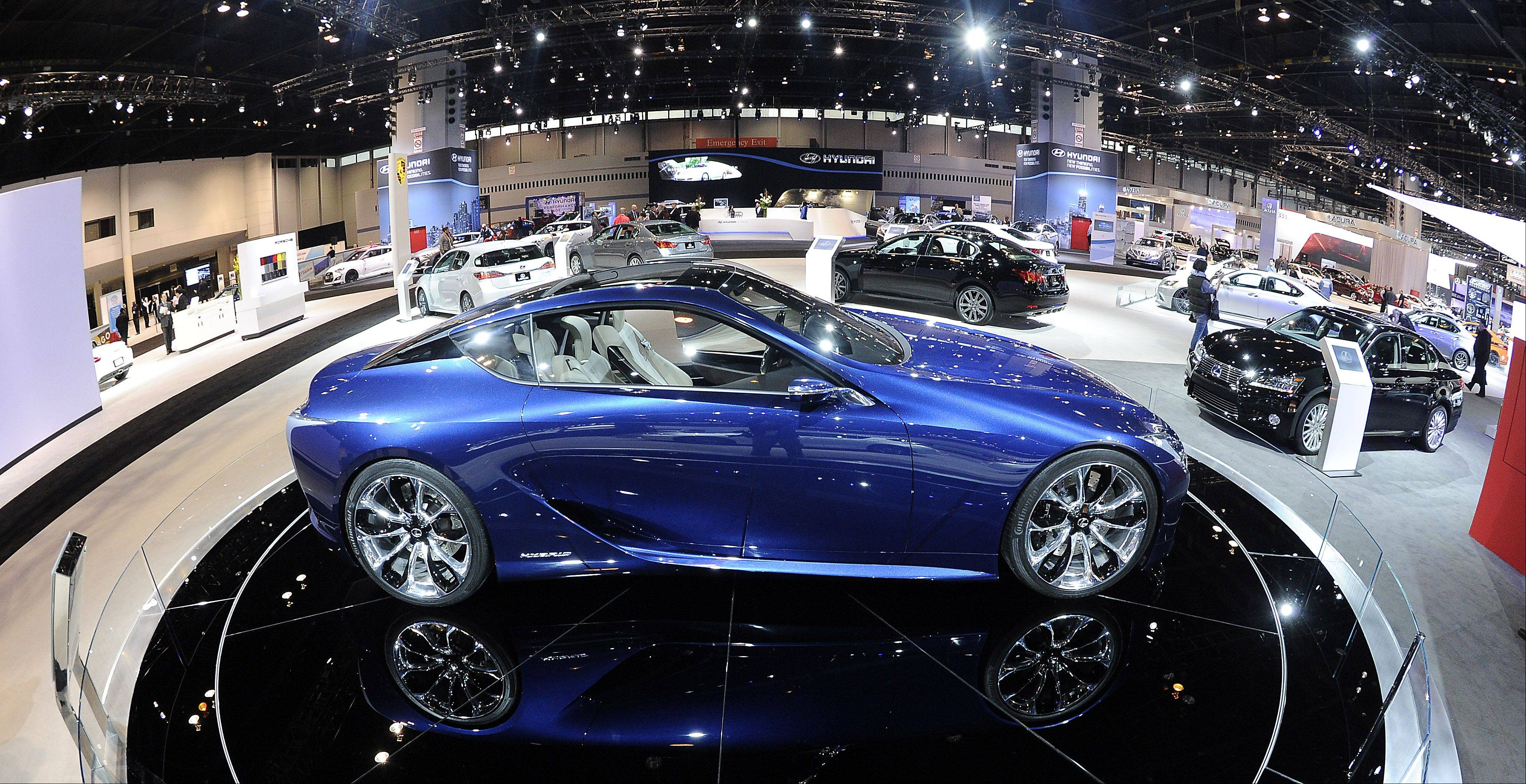 The Lexus LF-LC Hybrid Sport Coupe Concept car.