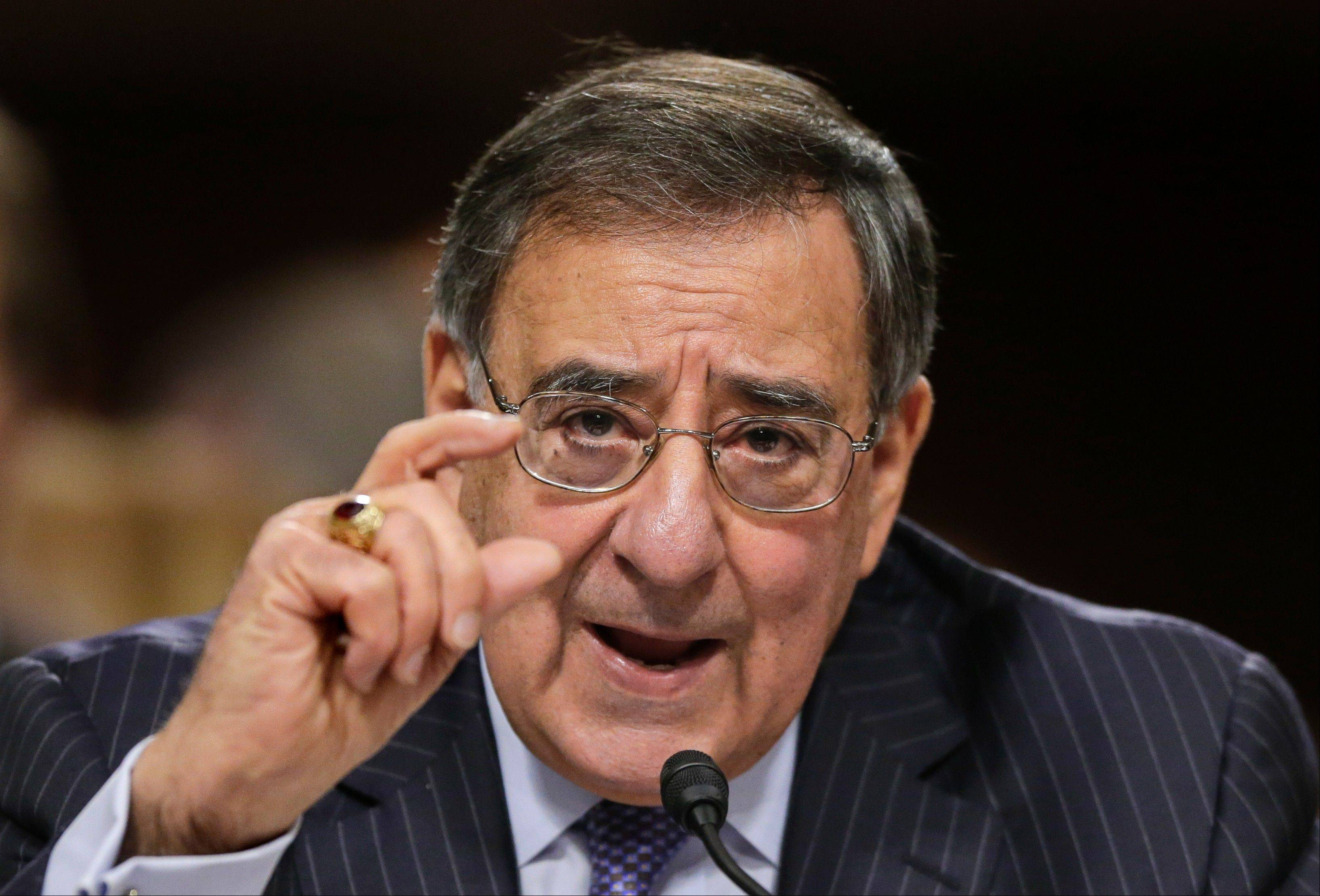 Outgoing Defense Secretary Leon Panetta testifies on Capitol Hill Thursday before the Senate Armed Services Committee about the Pentagon's role in responding to the attack last year on the U.S. consulate in Benghazi, Libya, where the ambassador and three other Americans were killed.