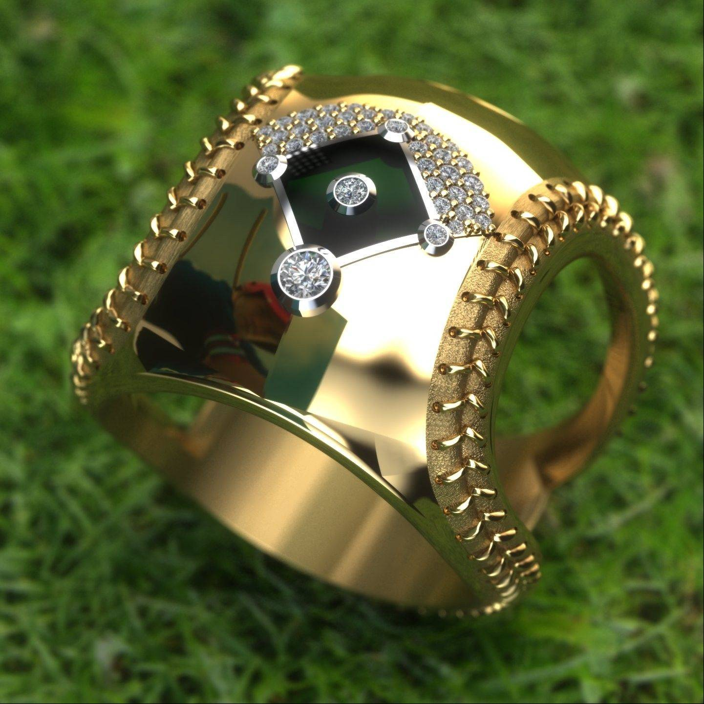 This ring for a very dedicated baseball fan won a design award for Amy Rugg, a designer at Wyatt Austin Jewelers in Schaumburg.