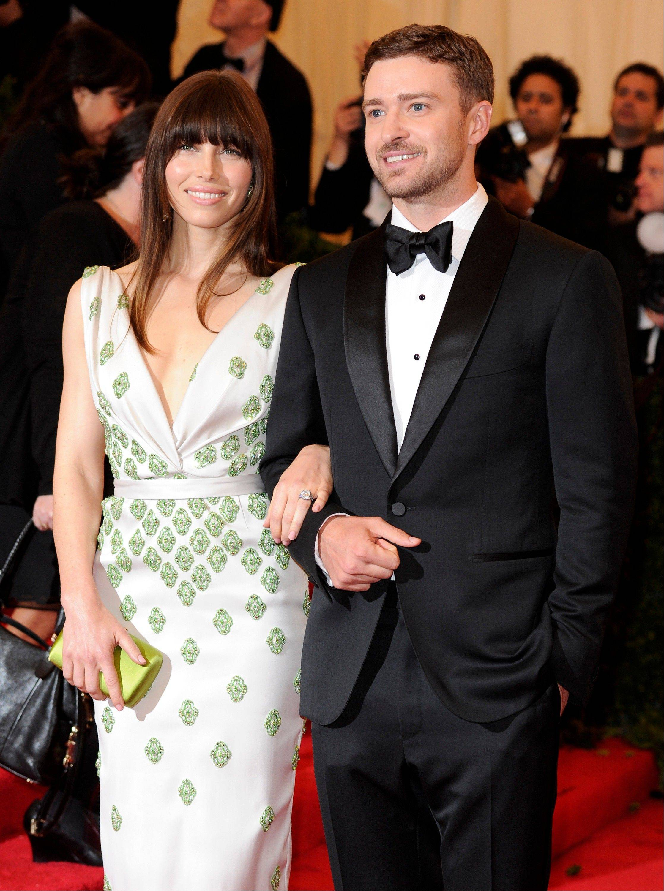 Associated PressGiven the weight of her engagement ring, it's no wonder that actress Jessica Biel needed to take the arm of her then-fiance, Justin Timberlake, during this 2012 gala benefit in New York.