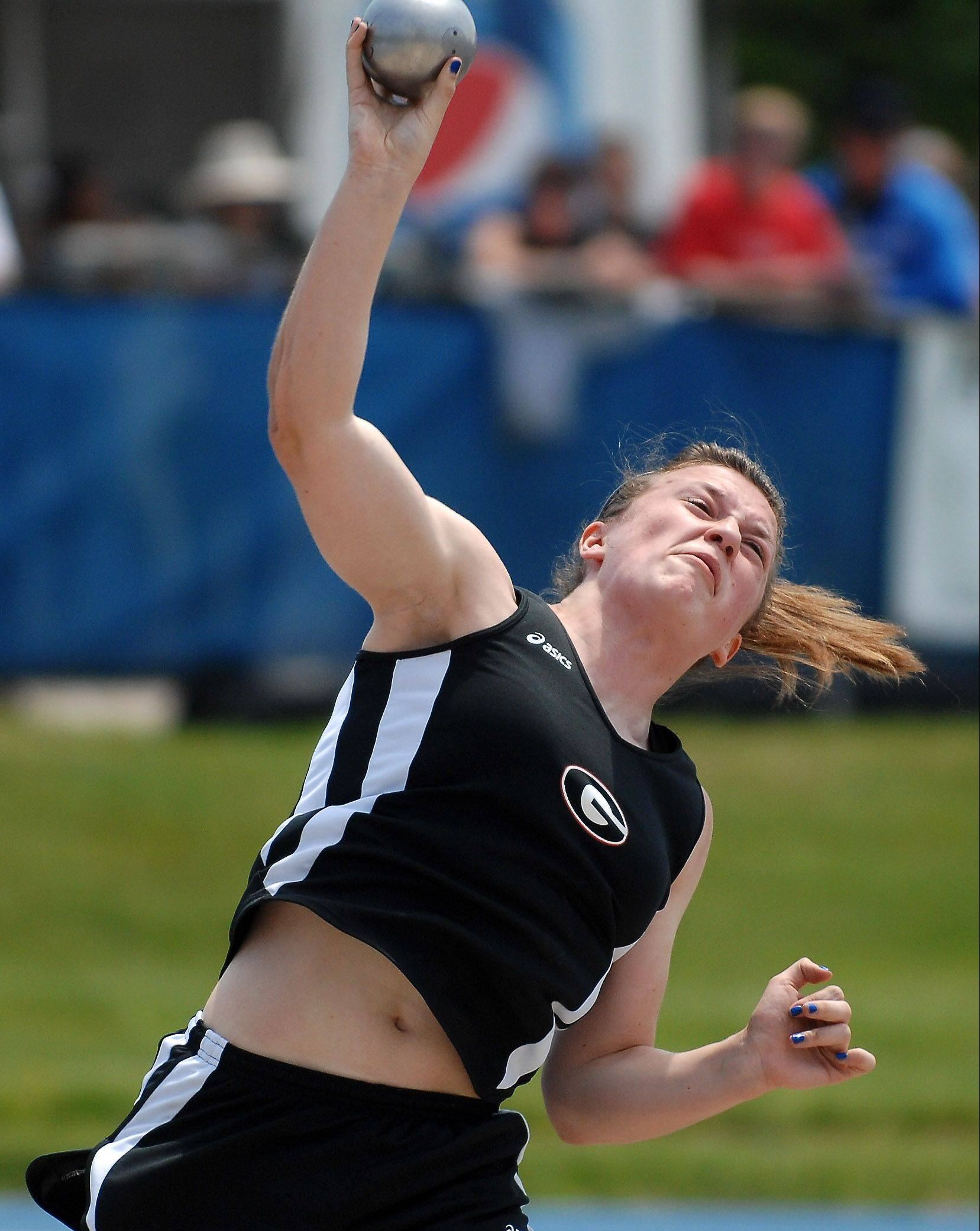 Grant's Melissa Dunham is headed to Dartmouth, where she'll continue to compete in the throws.