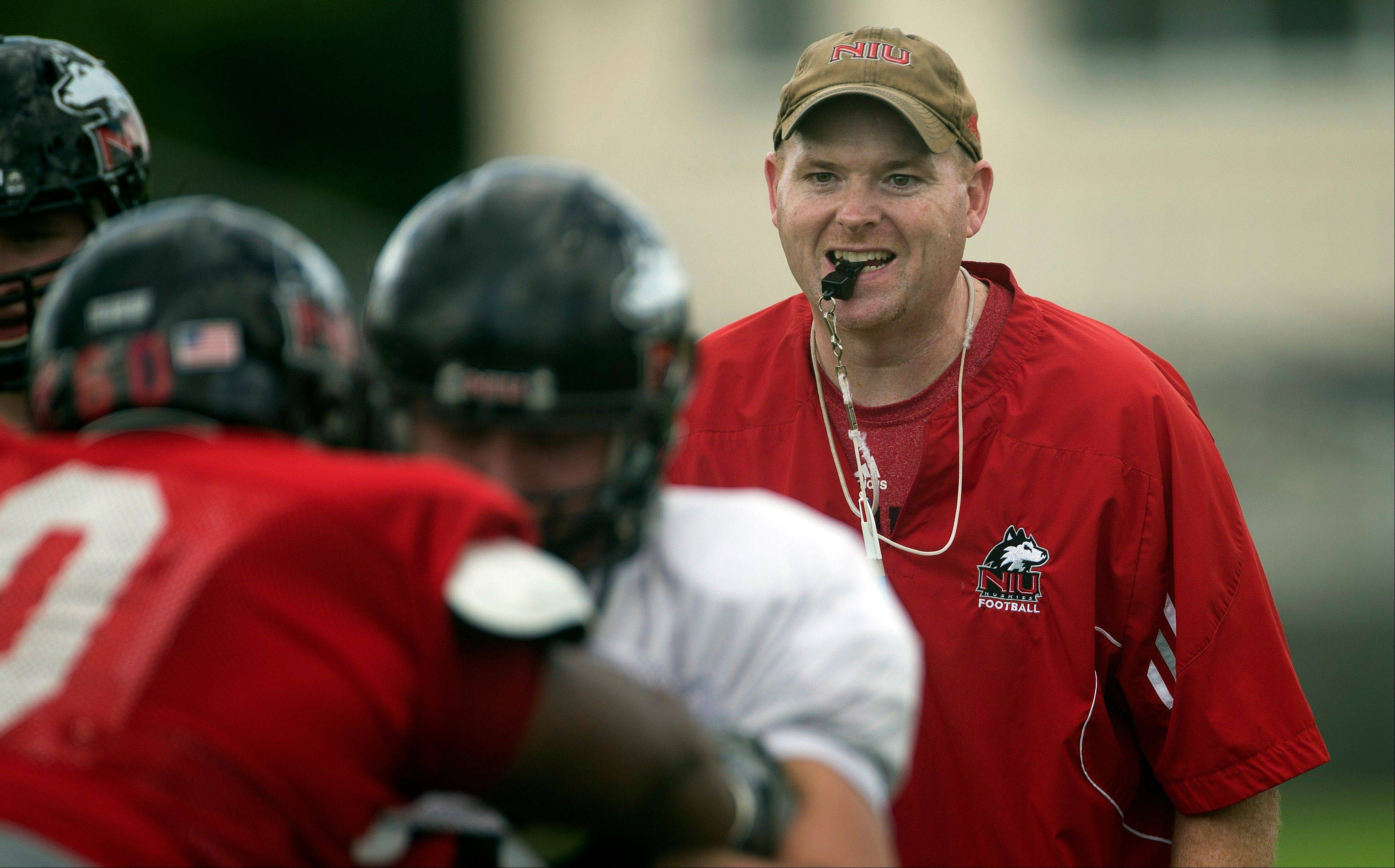 Northern Illinois coach Rod Carey has added several new assistants and realigned his staff for the 2013 season.